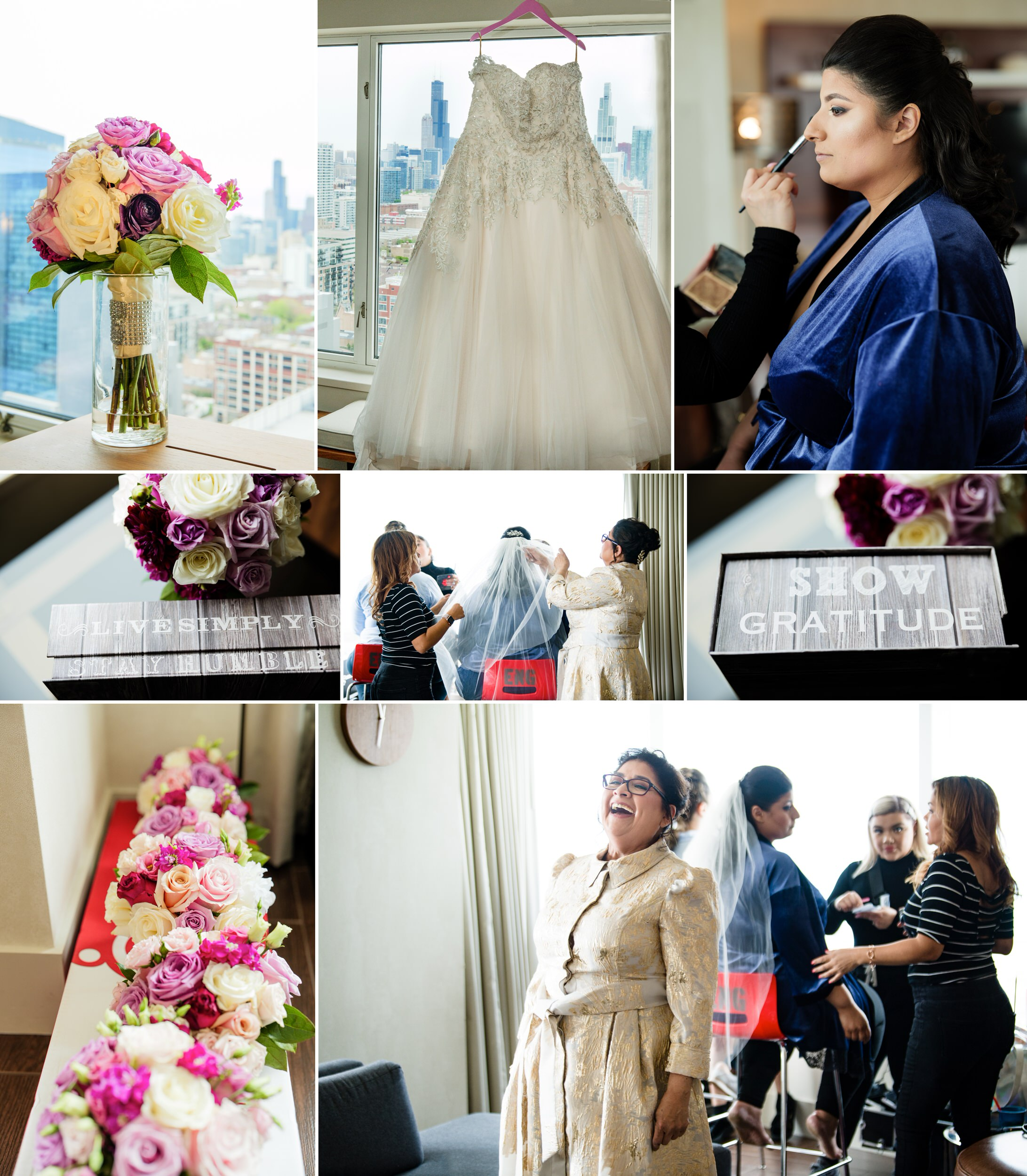 Bridal Prep at Hyatt Regency McCormick Place in Chicago.