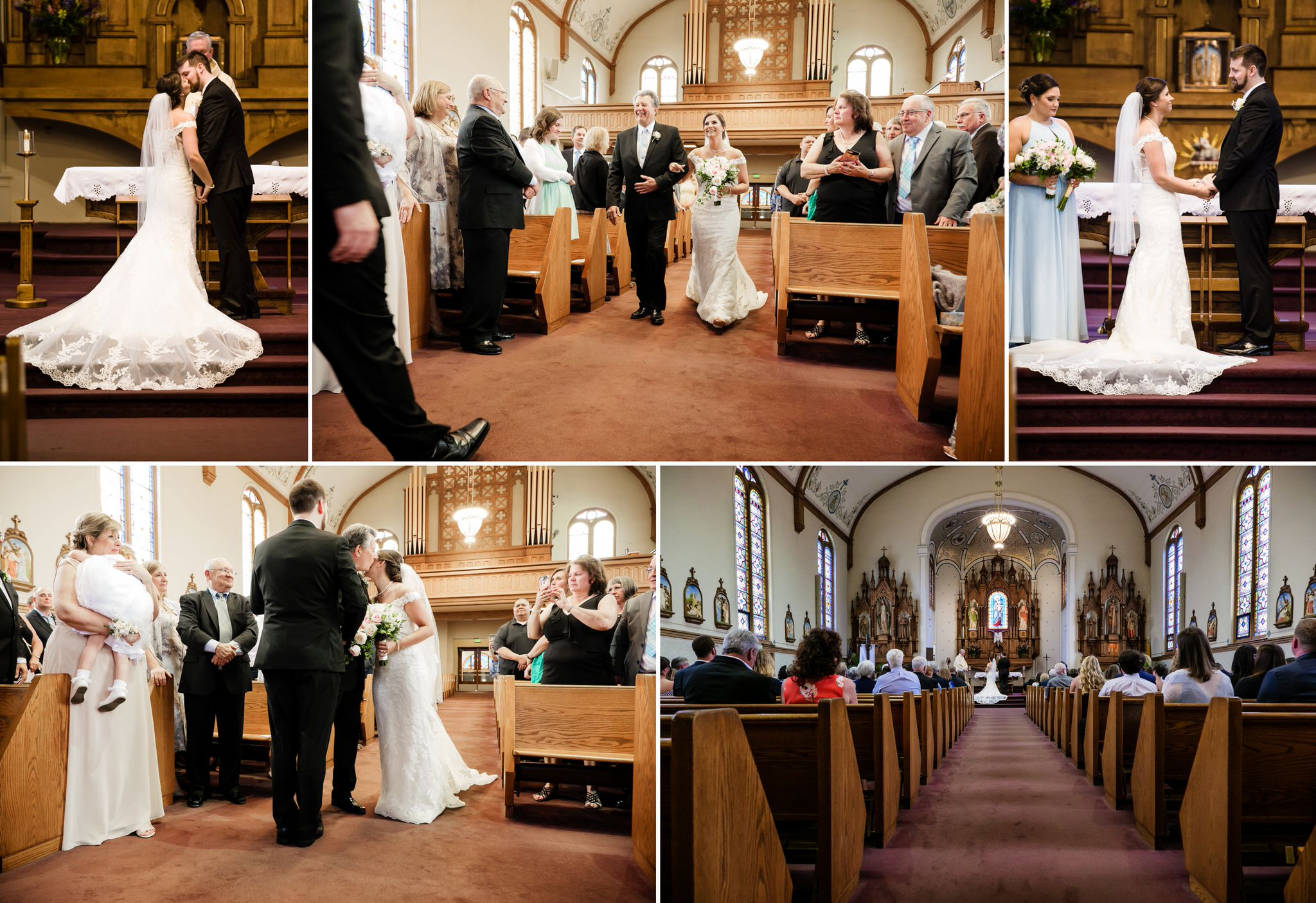 Wedding ceremony at Saint Mary Catholic Church.