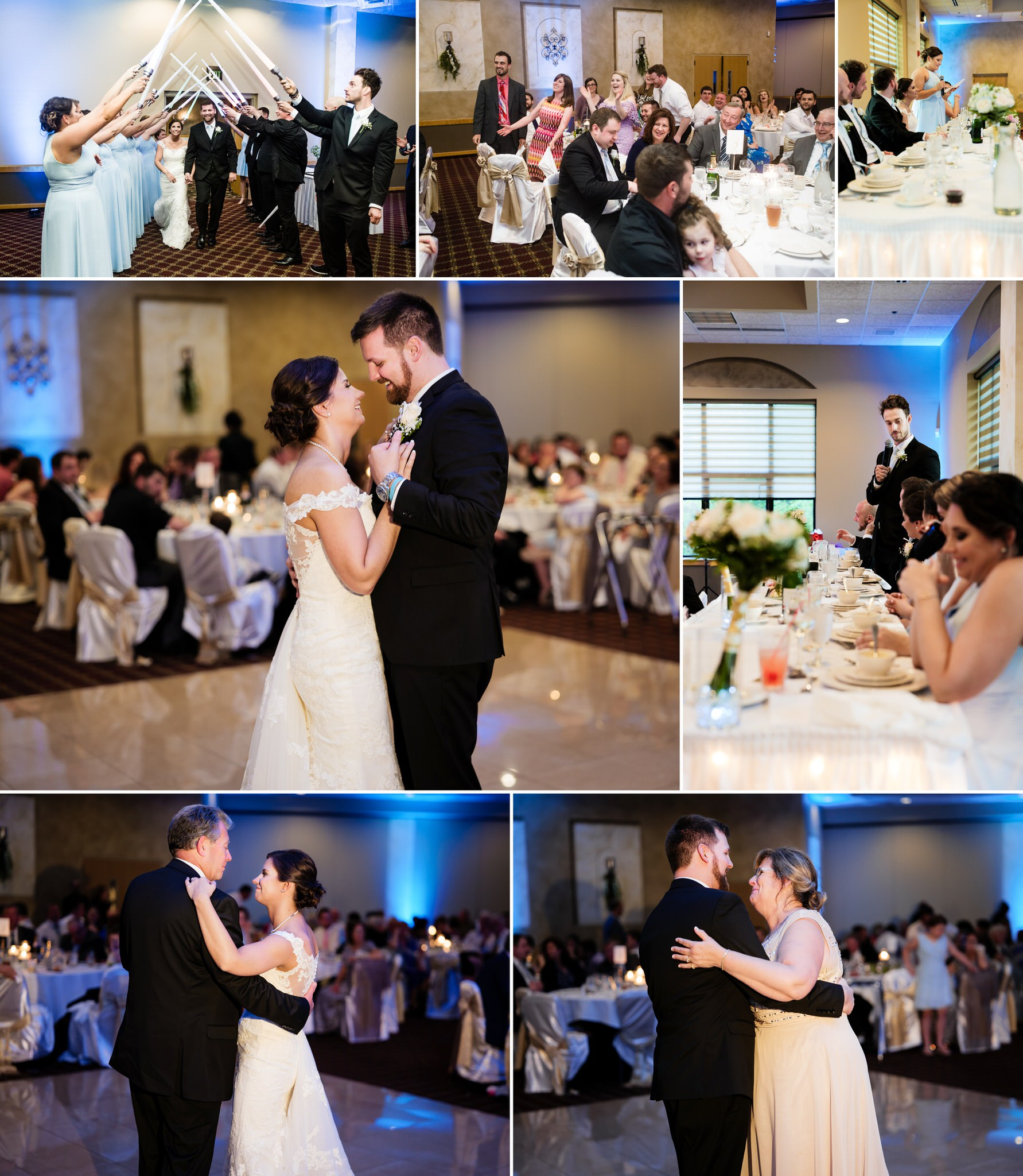 Introductions and first dances at Villa Cesare Banquet Hall.