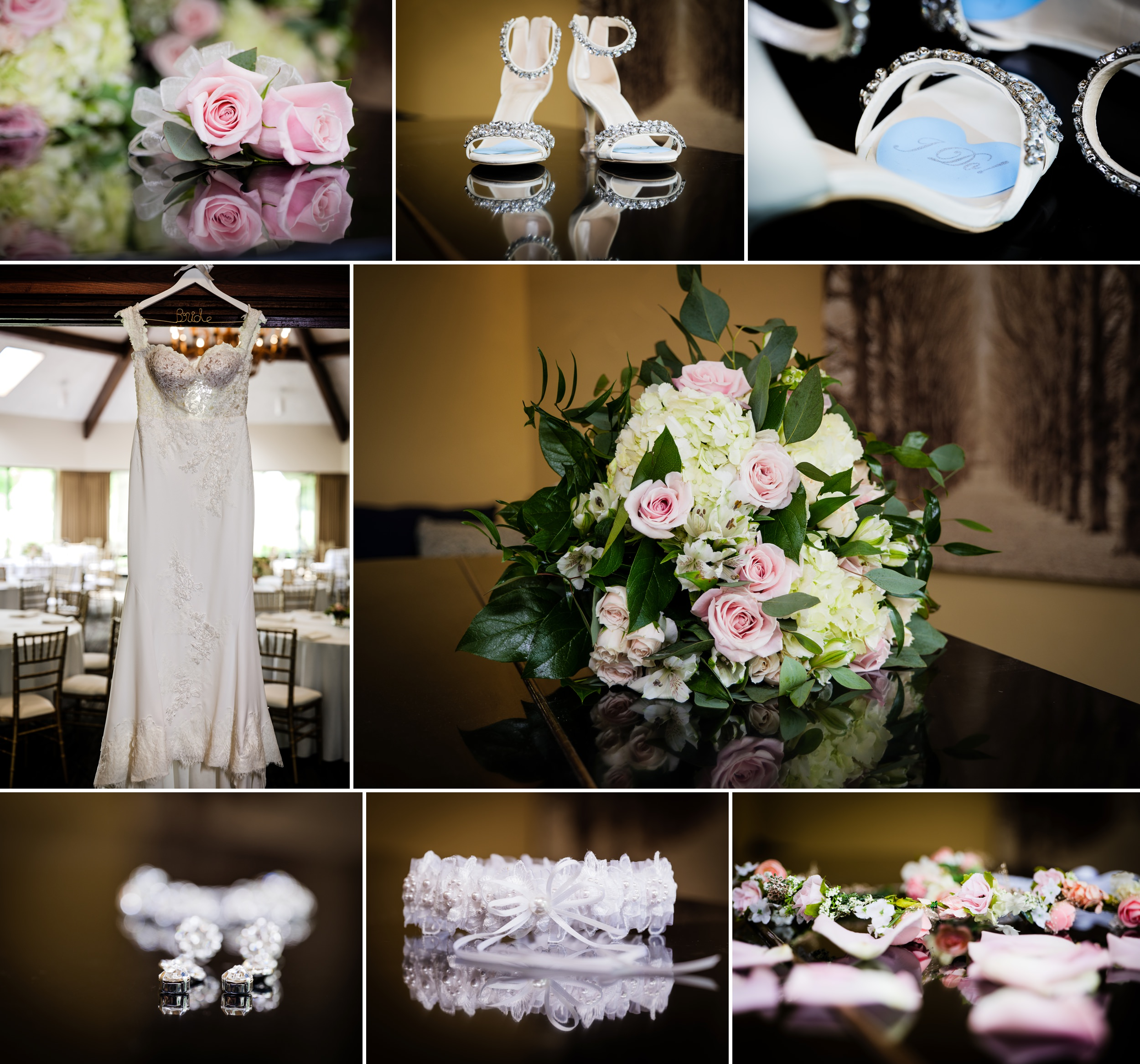 Detail shots at a summer wedding at Briar Ridge Country Club.