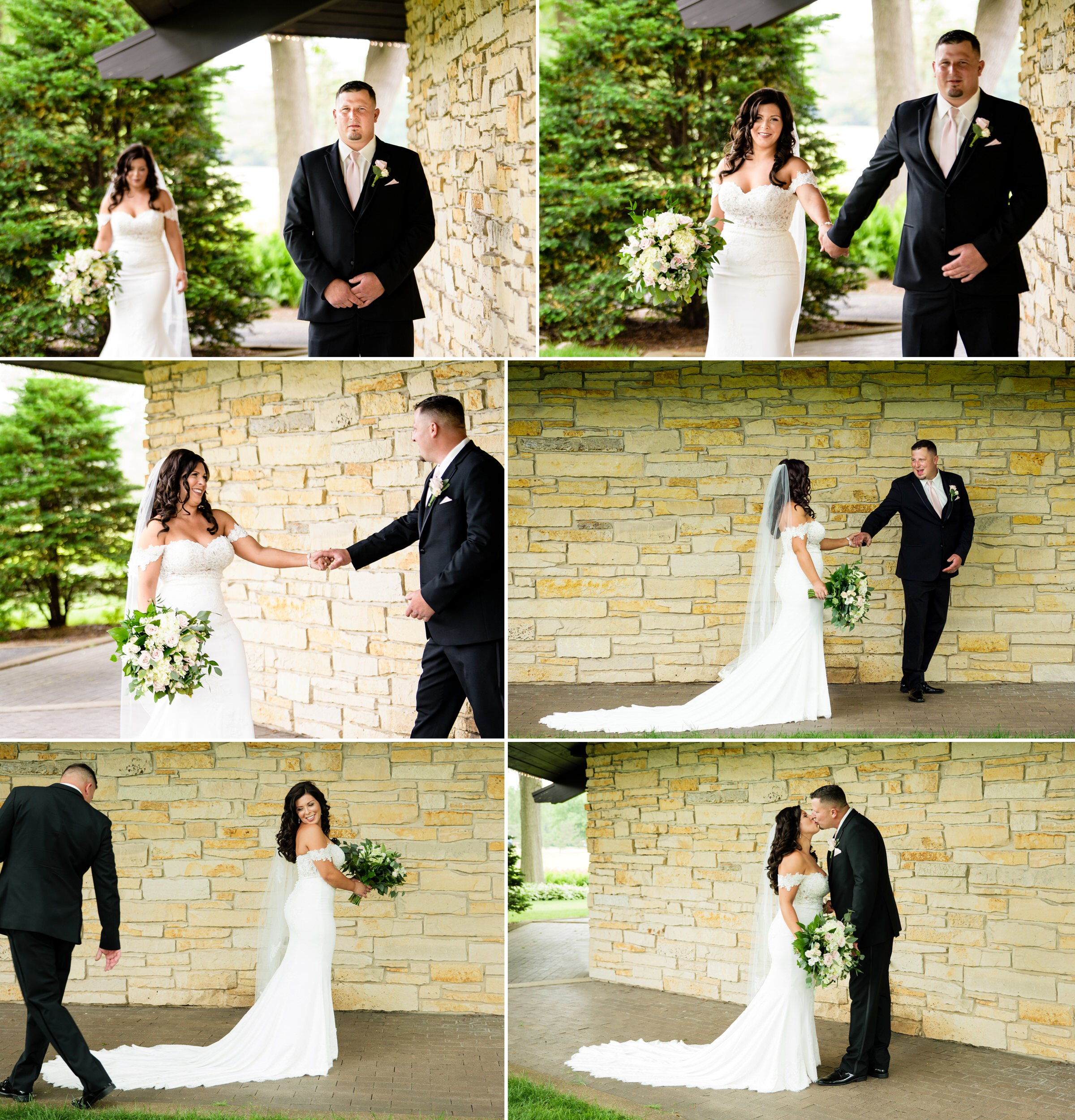 Bride and groom reveal at Briar Ridge Country Club.