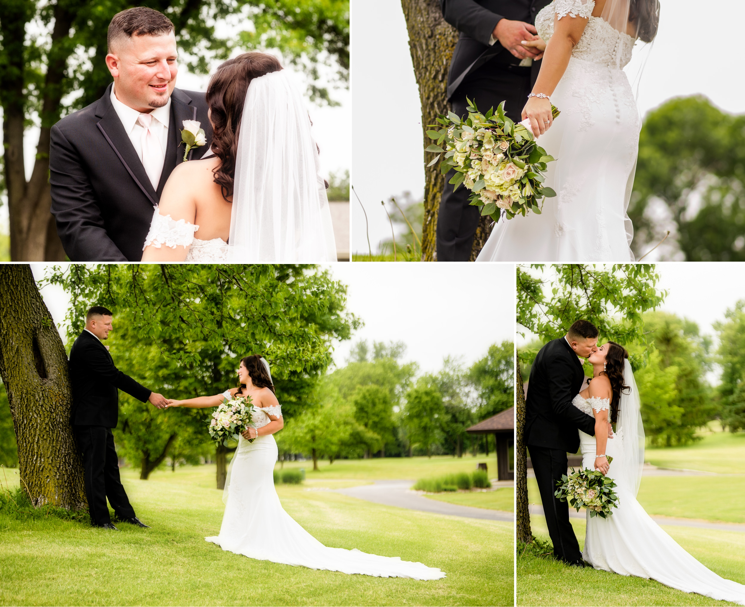 Romantic wedding photos at Briar Ridge.