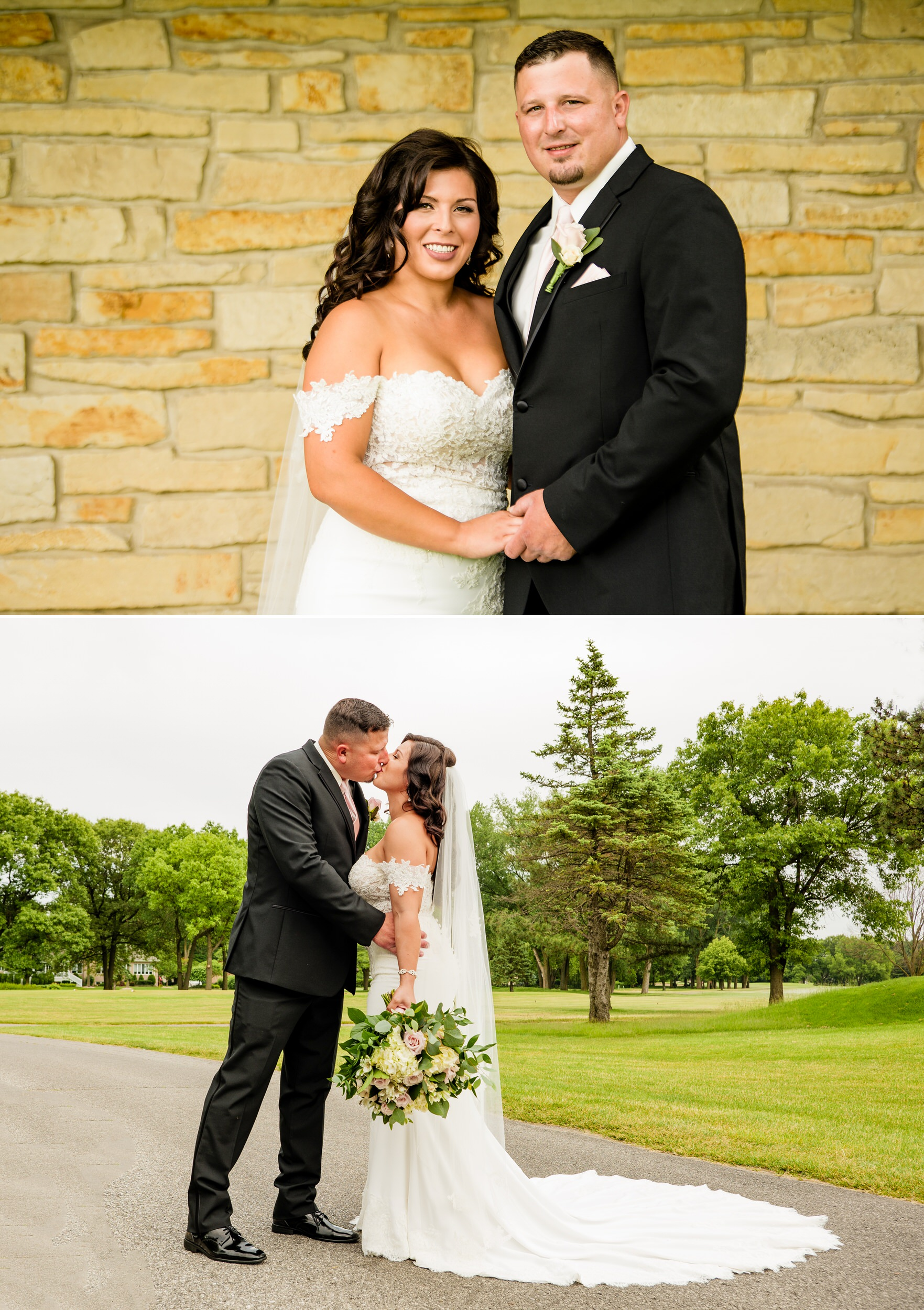 Wedding photos at Briar Ridge Country Club golf course.