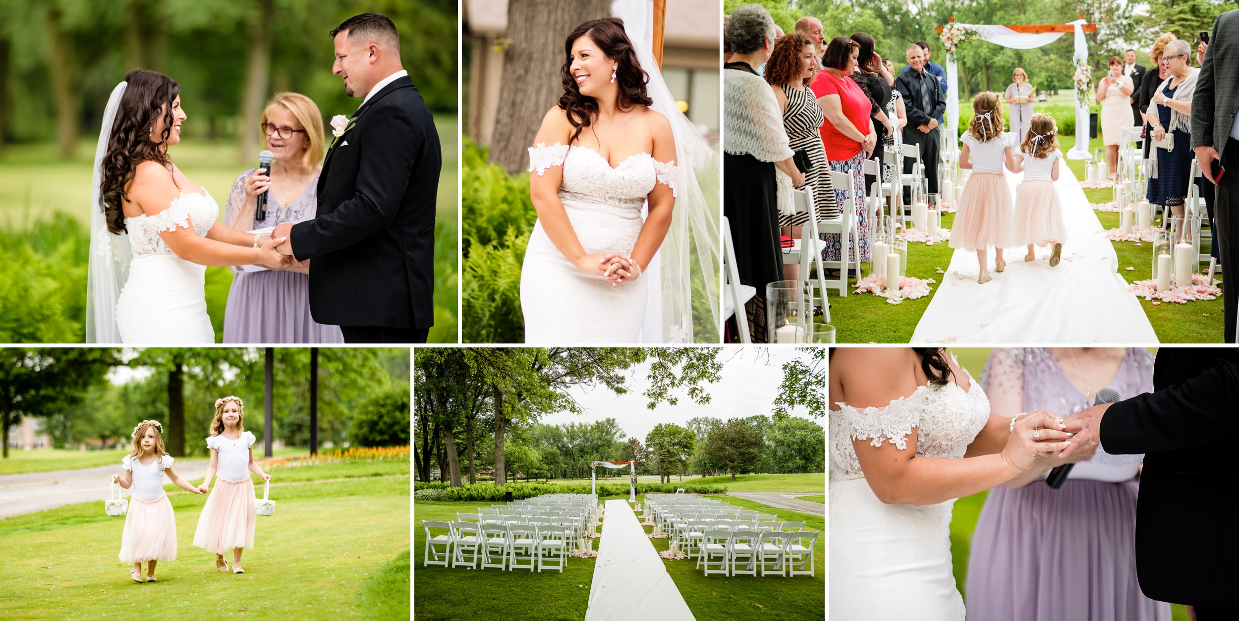 Wedding ceremony at Briar Ridge golf course.