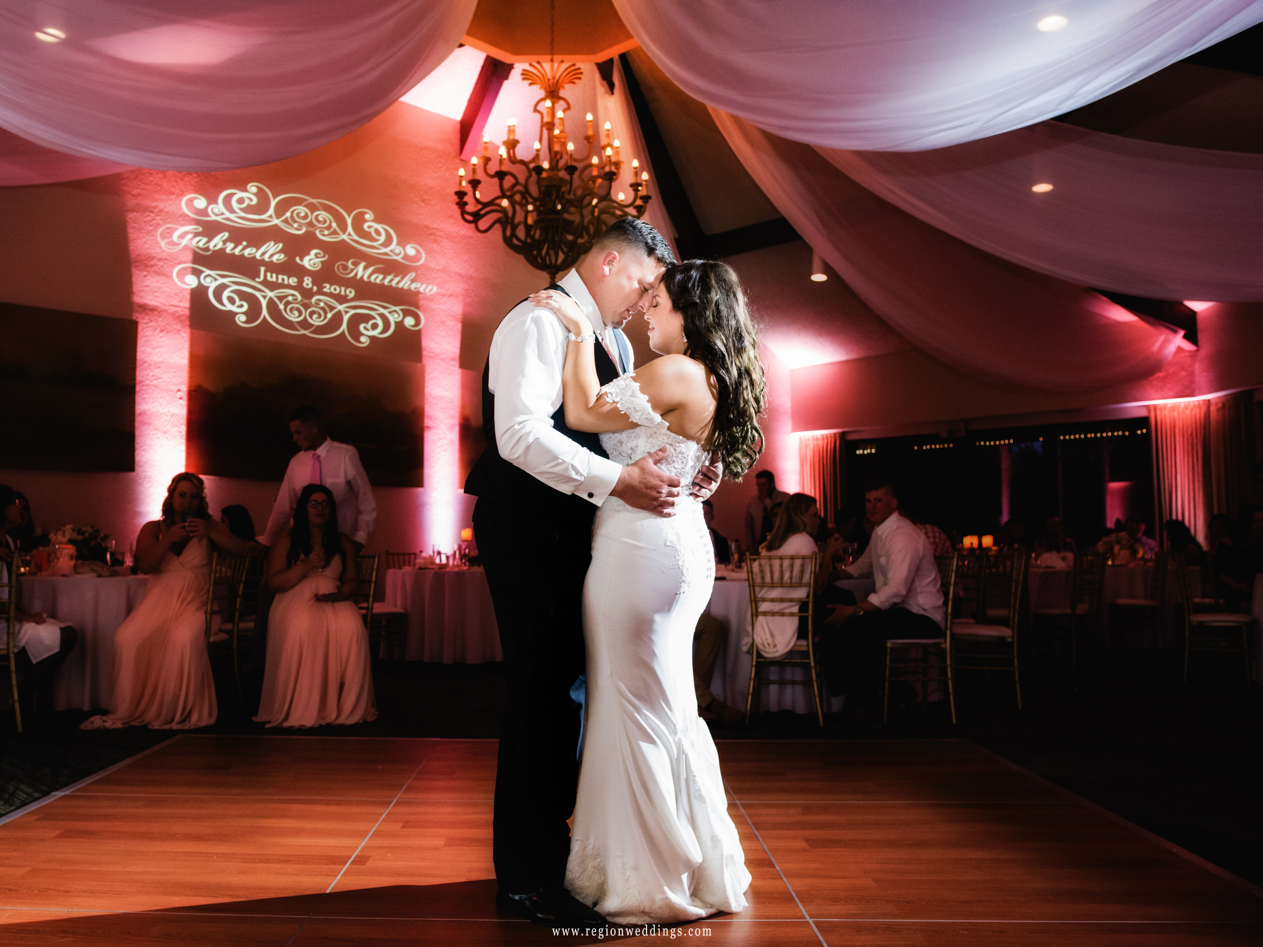 First dance inside the clubhouse at Briar Ridge golf course.