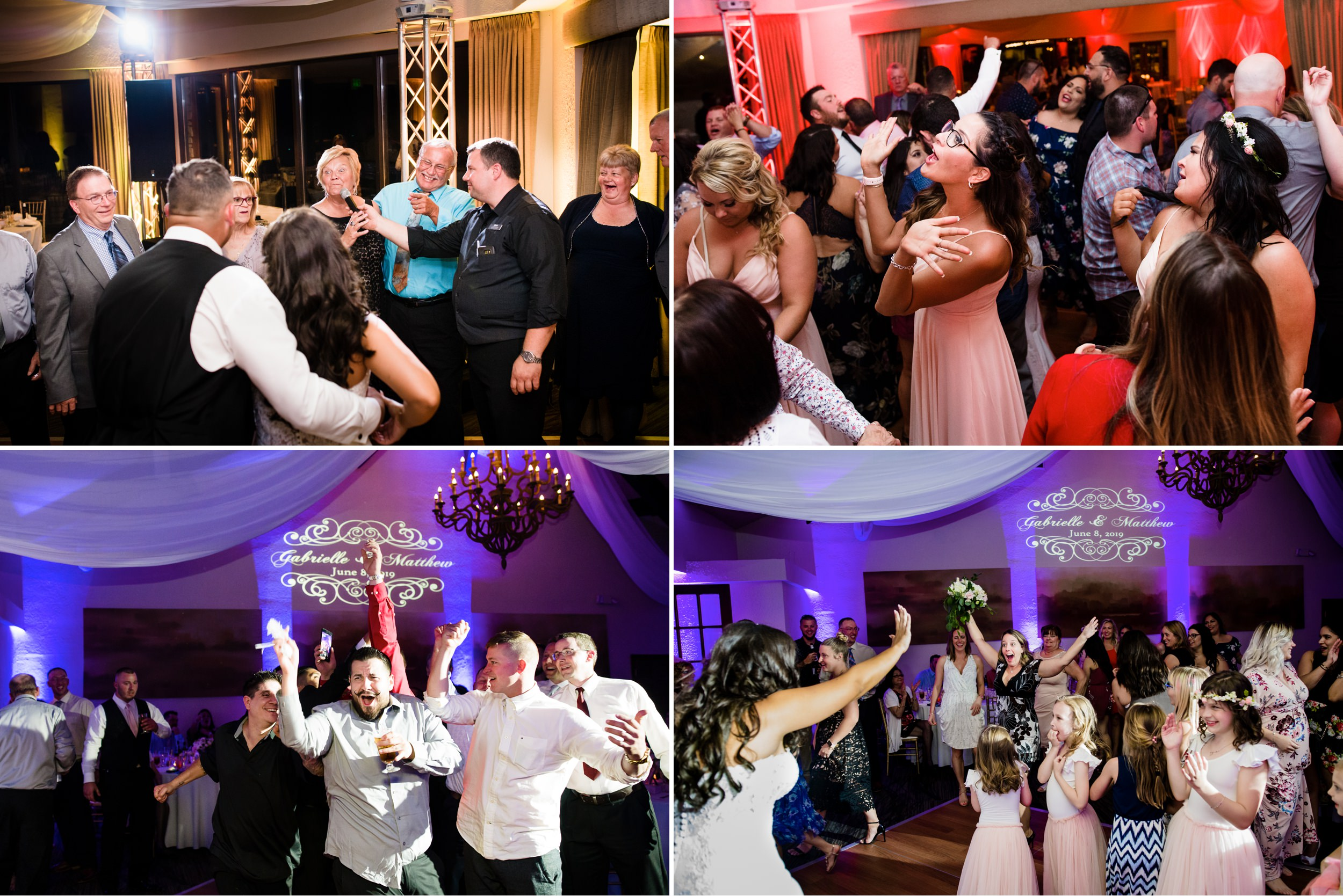 The exuberant dance floor at Briar Ridge during a summer wedding reception.
