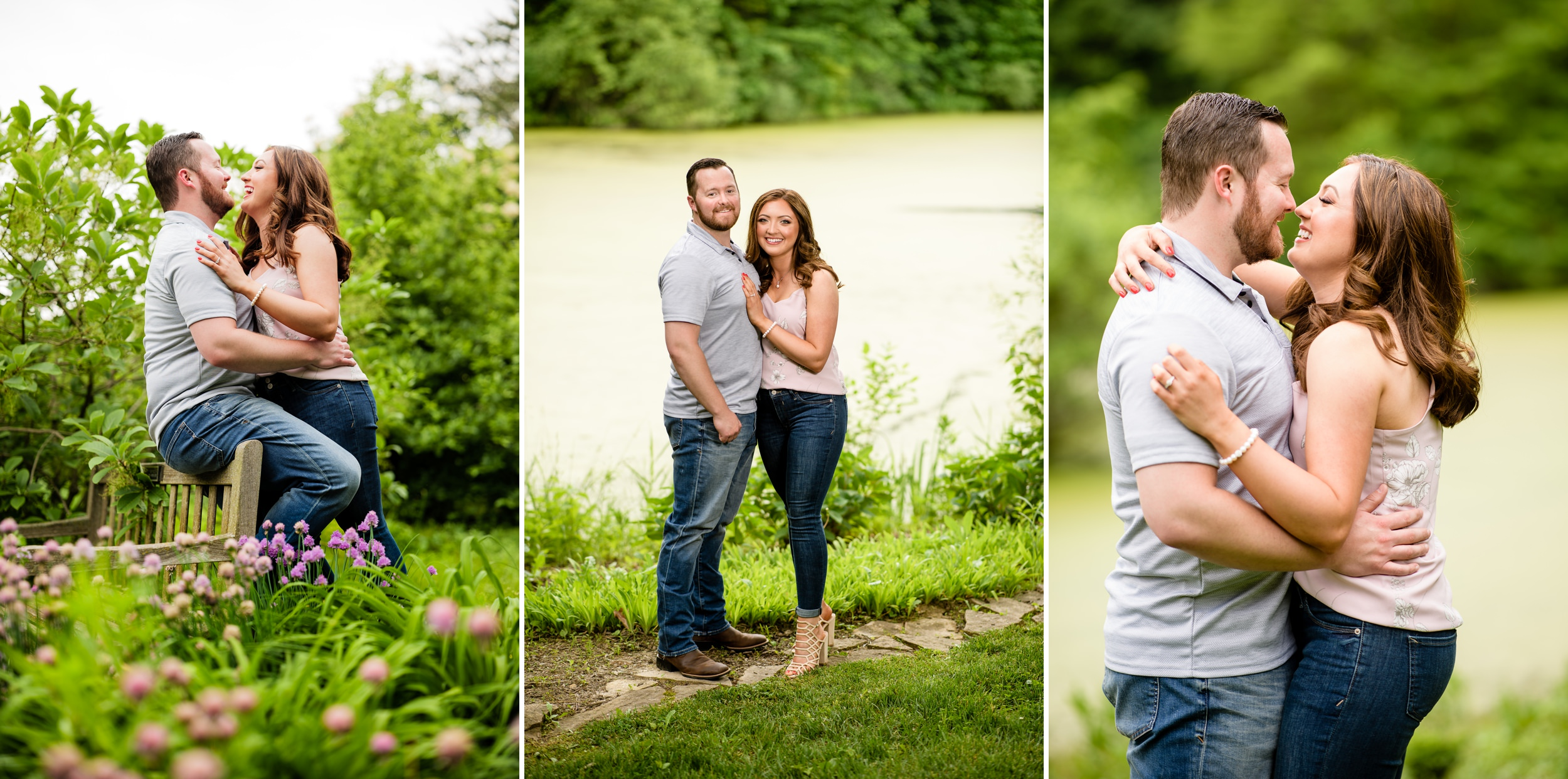 Fun moments during an engagement session in Valparaiso, Indiana.