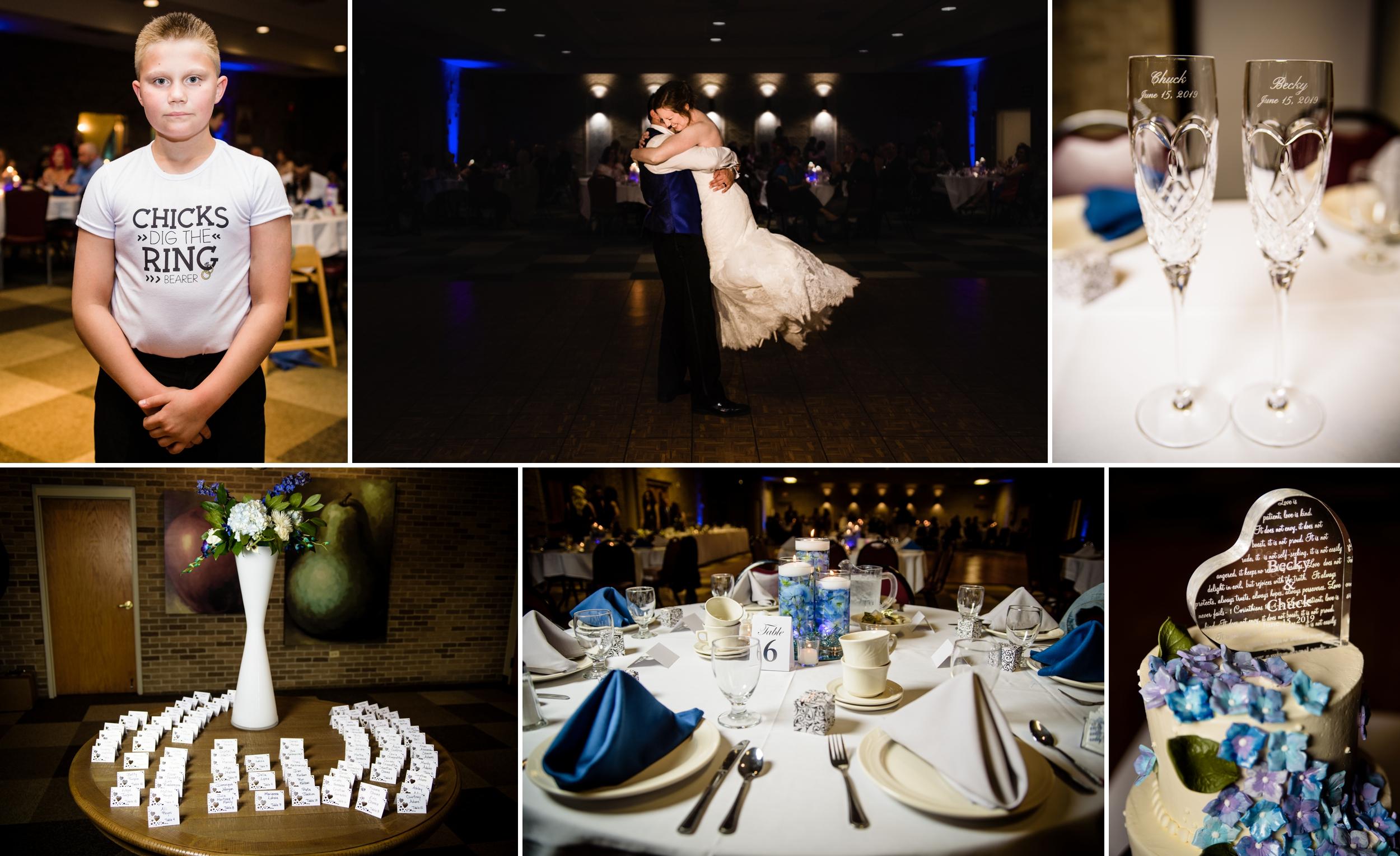 Summer wedding reception at Casa Maria.