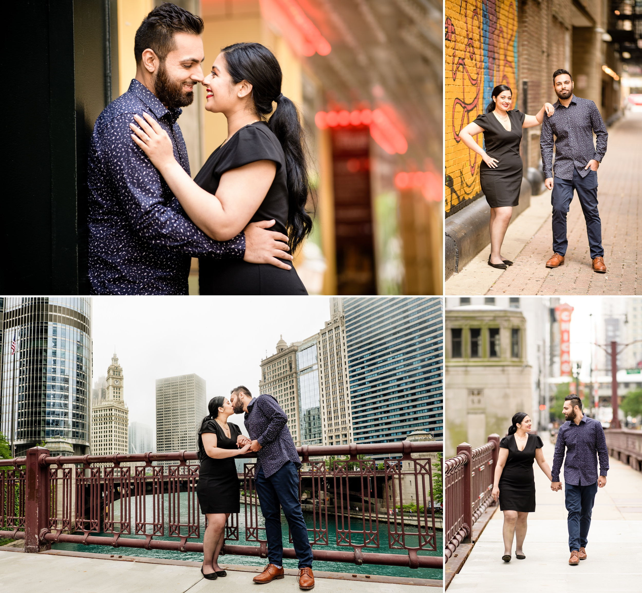Engagement pictures in downtown Chicago, Illinois.
