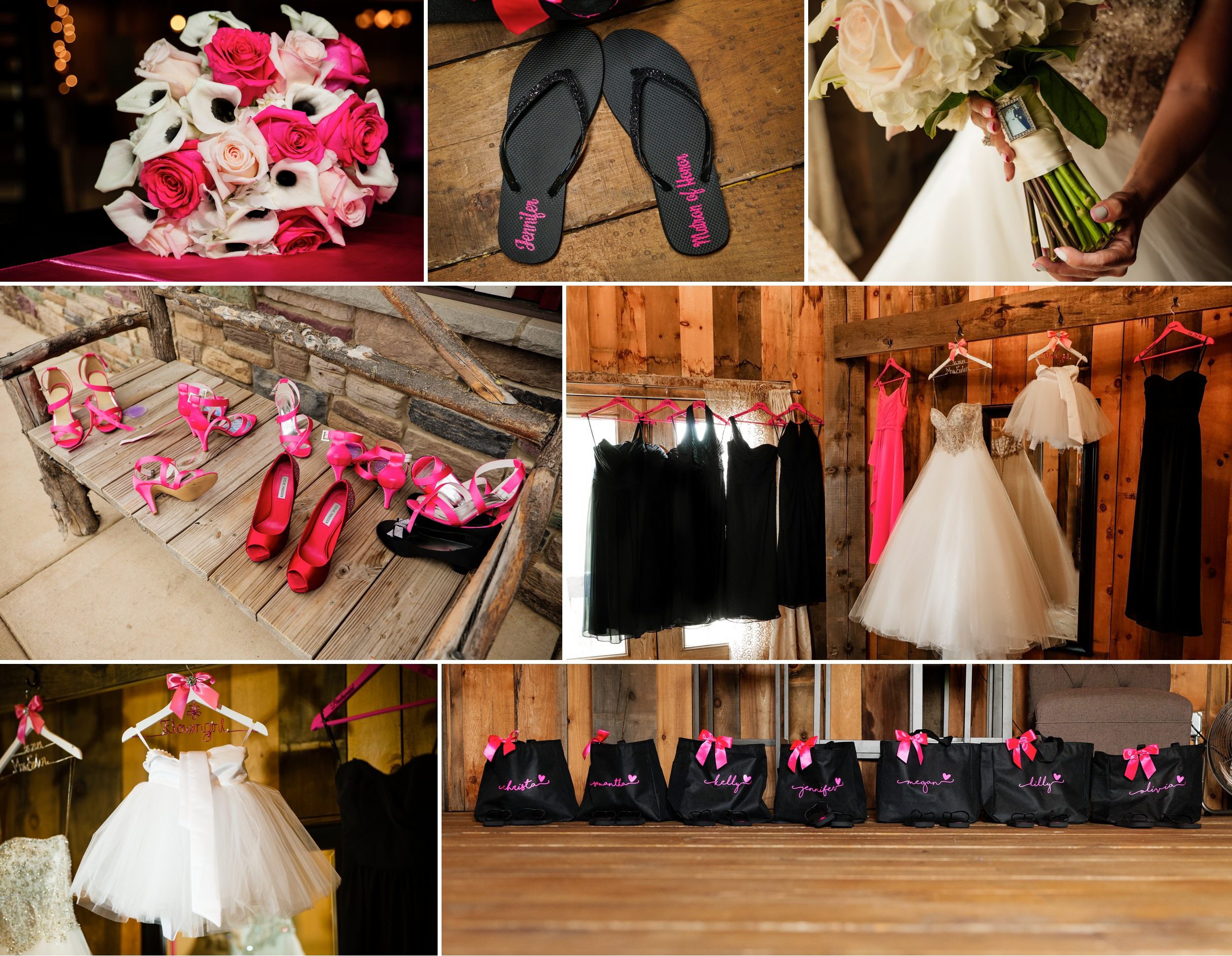 Bridal details at County Line Orchard.