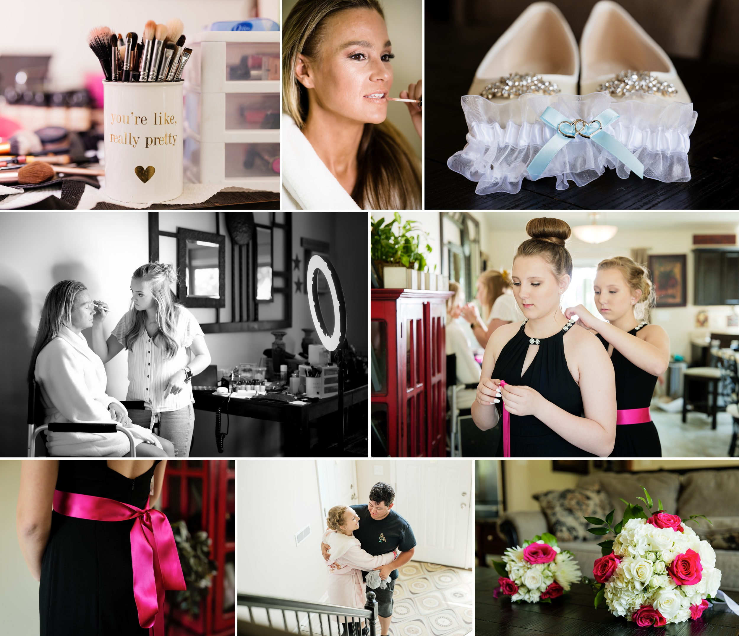 Bridal prep in Crown Point, Indiana.