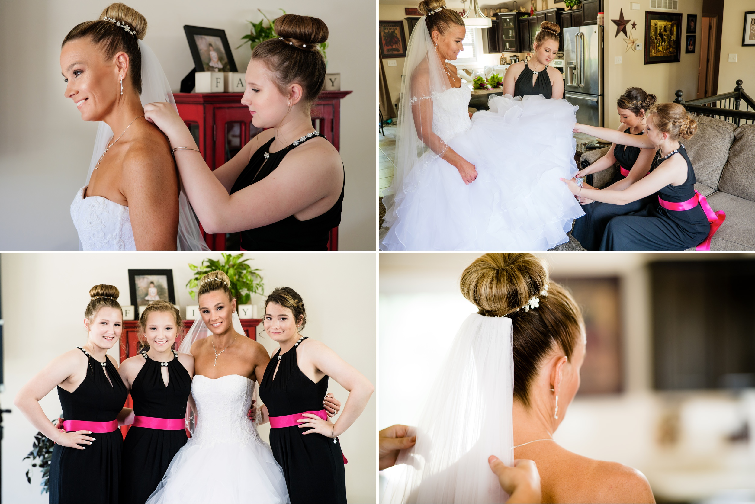Bridal prep for a Crown Point wedding.