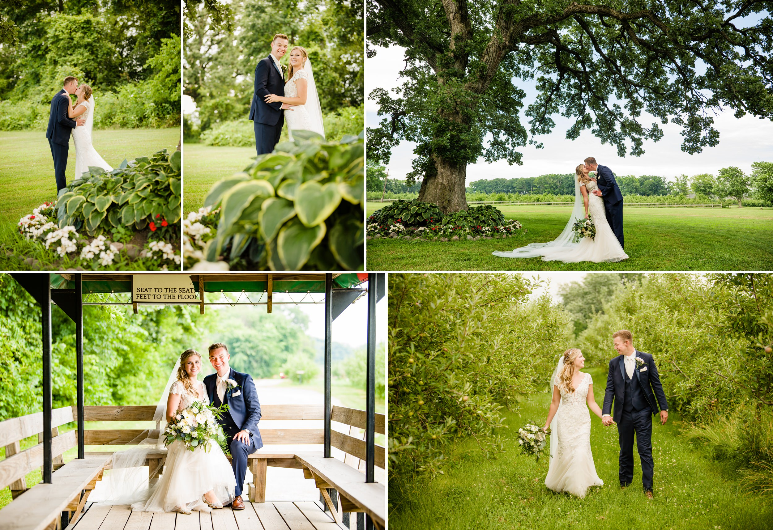 Summer wedding photos at County Line Orchard.