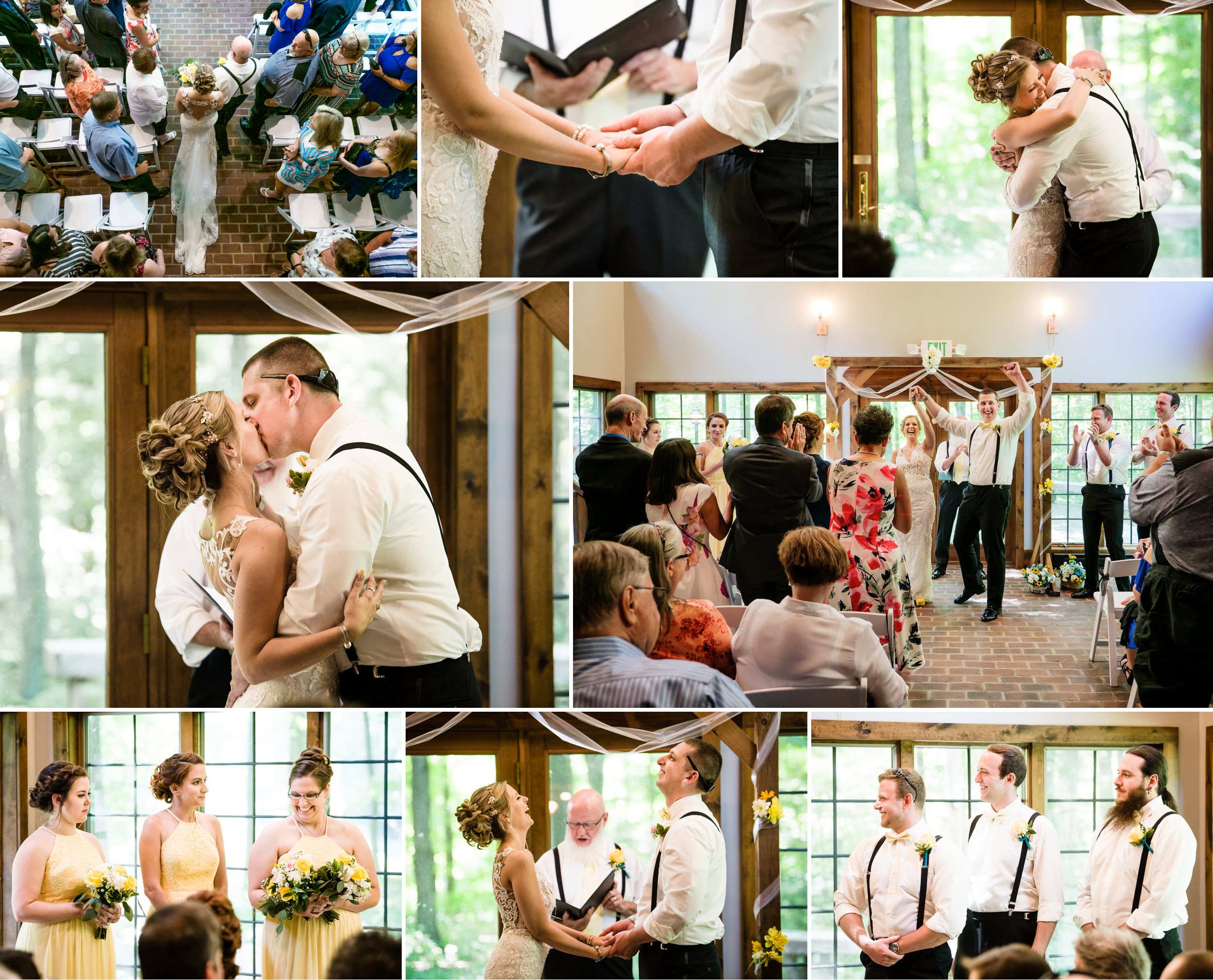 A morning wedding ceremony at The Brewery Lodge in Michigan City.
