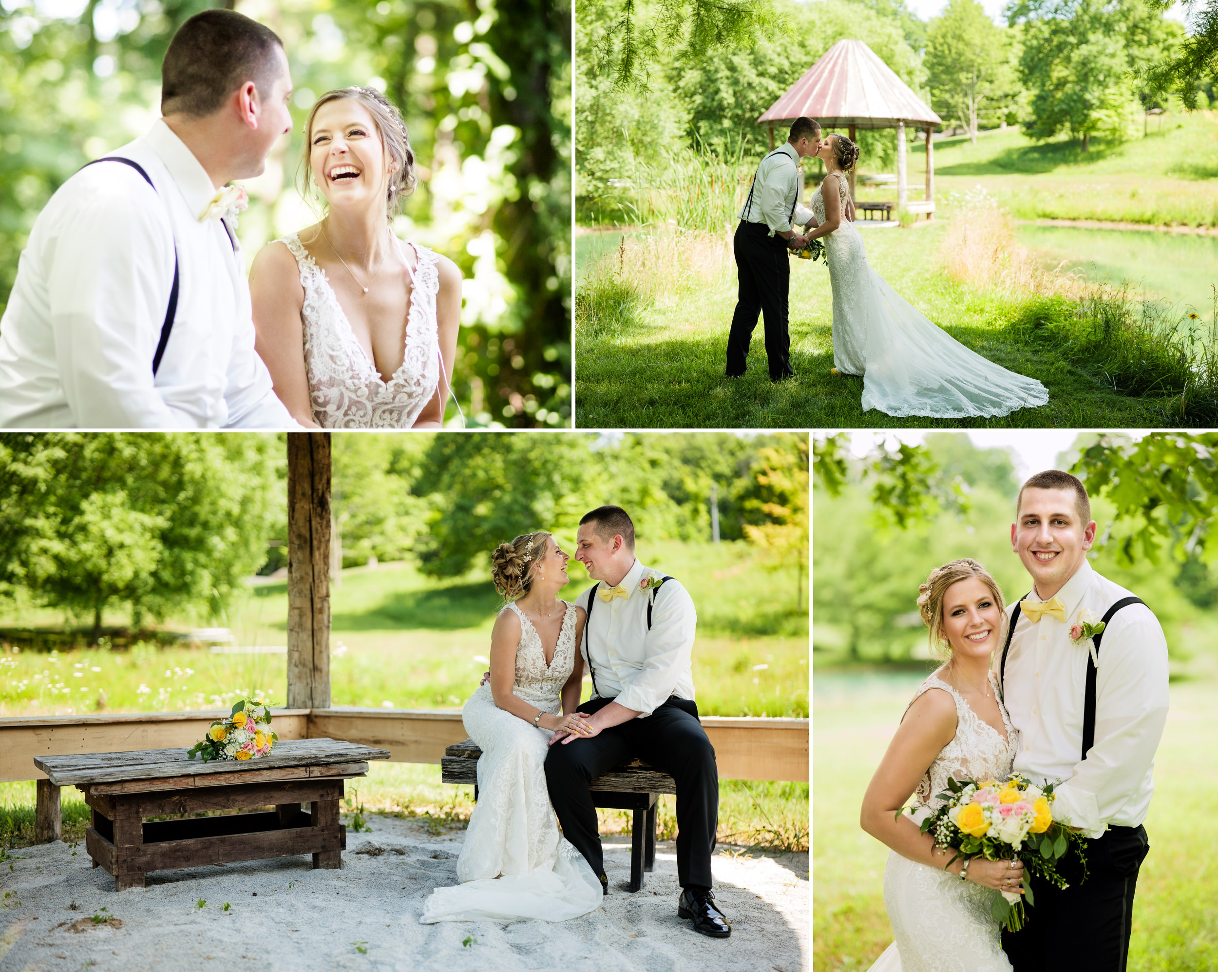 Candid wedding photos at Heston Hills Event Center.