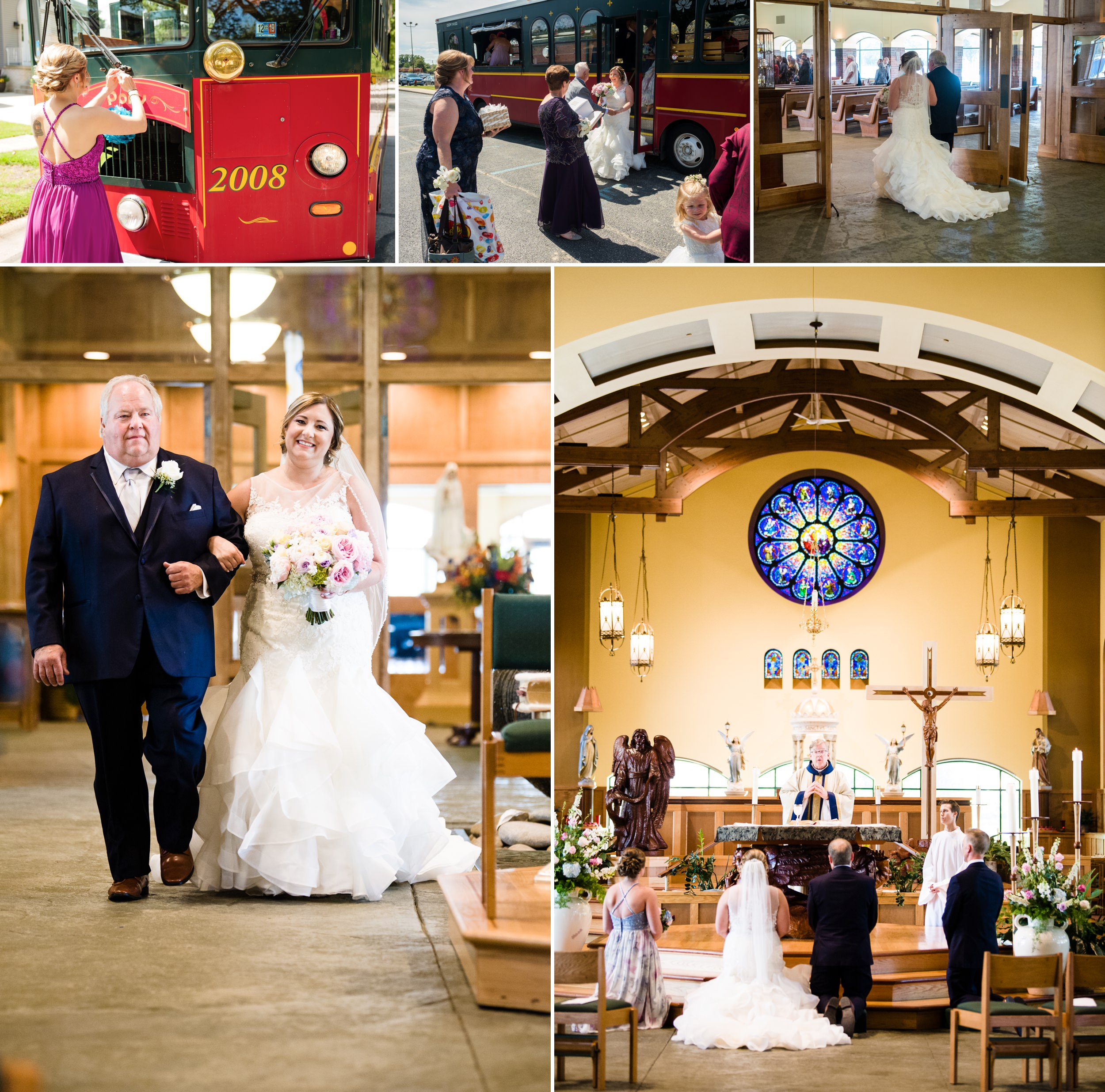August wedding ceremony at St. Michael's Parish in Schererville, Indiana.