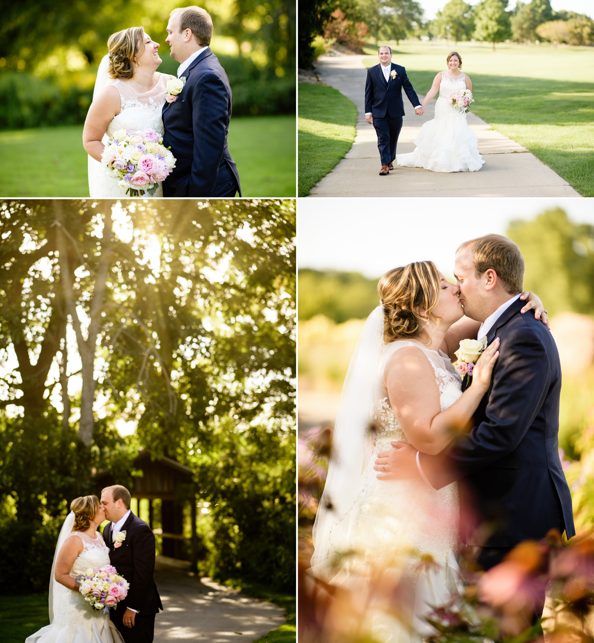 Wedding photos at Sand Creek Country Club in Chesterton, Indiana.