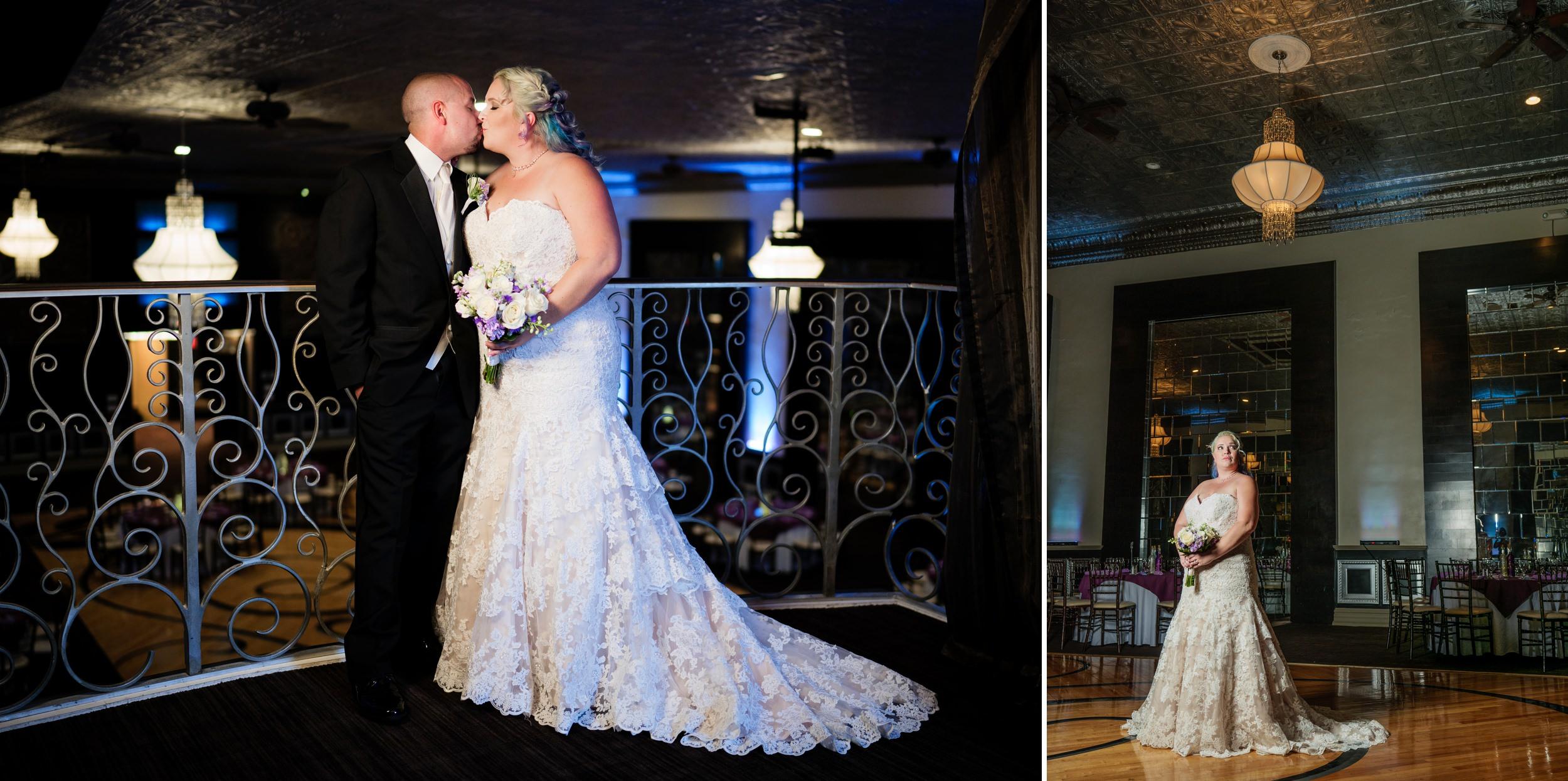 Wedding photos inside the The Allure ballroom.