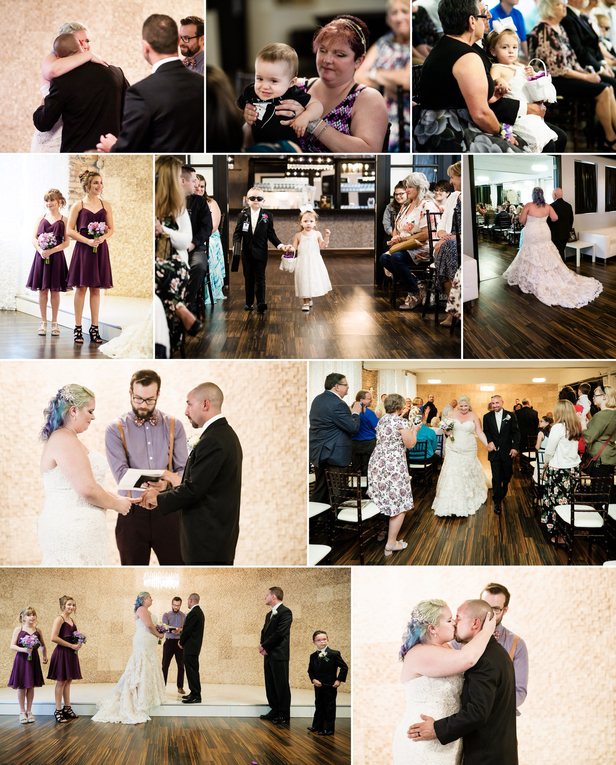 A heartfelt wedding ceremony at The Allure in Laporte, Indiana.