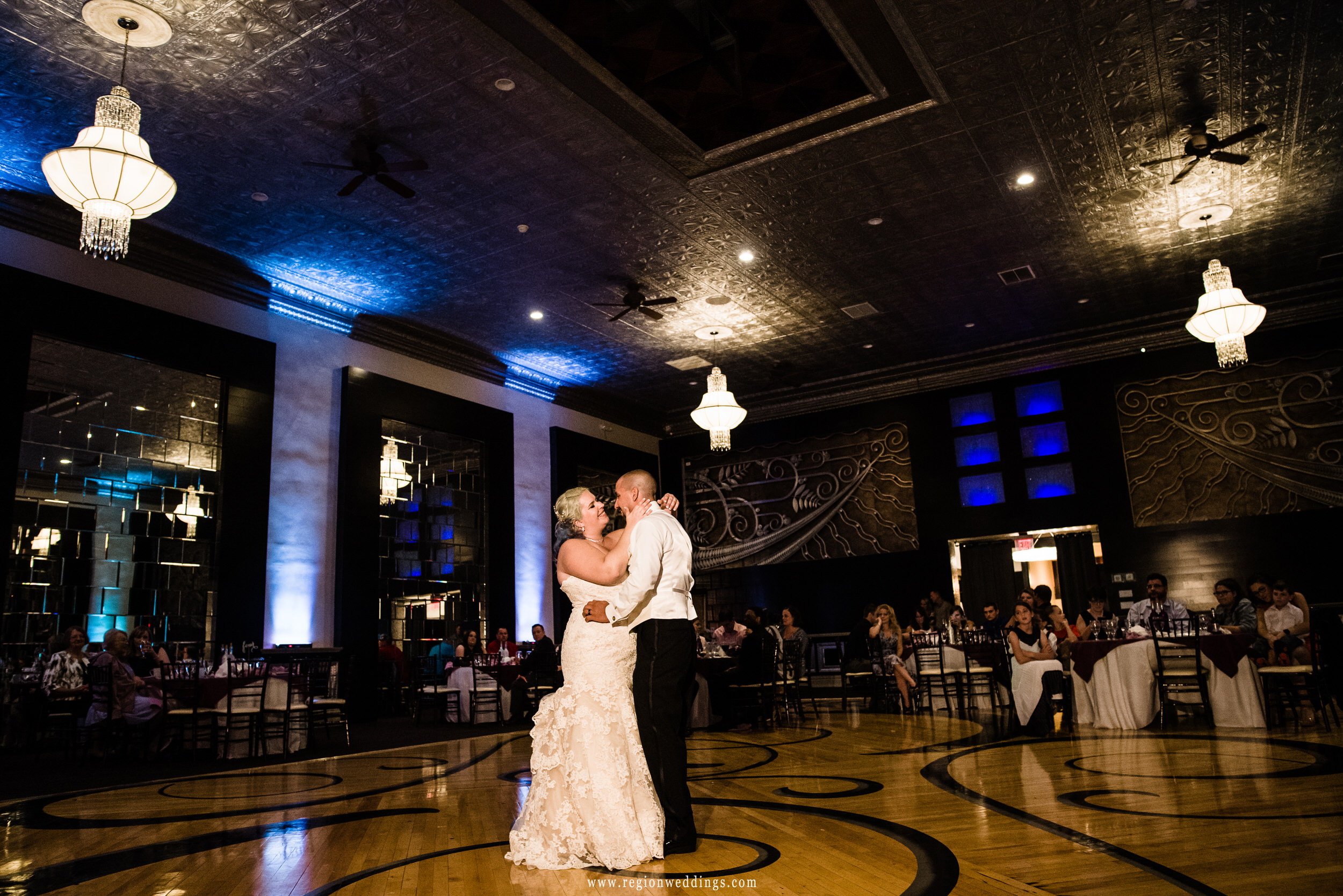First dance on the floor of The Allure ballroom.
