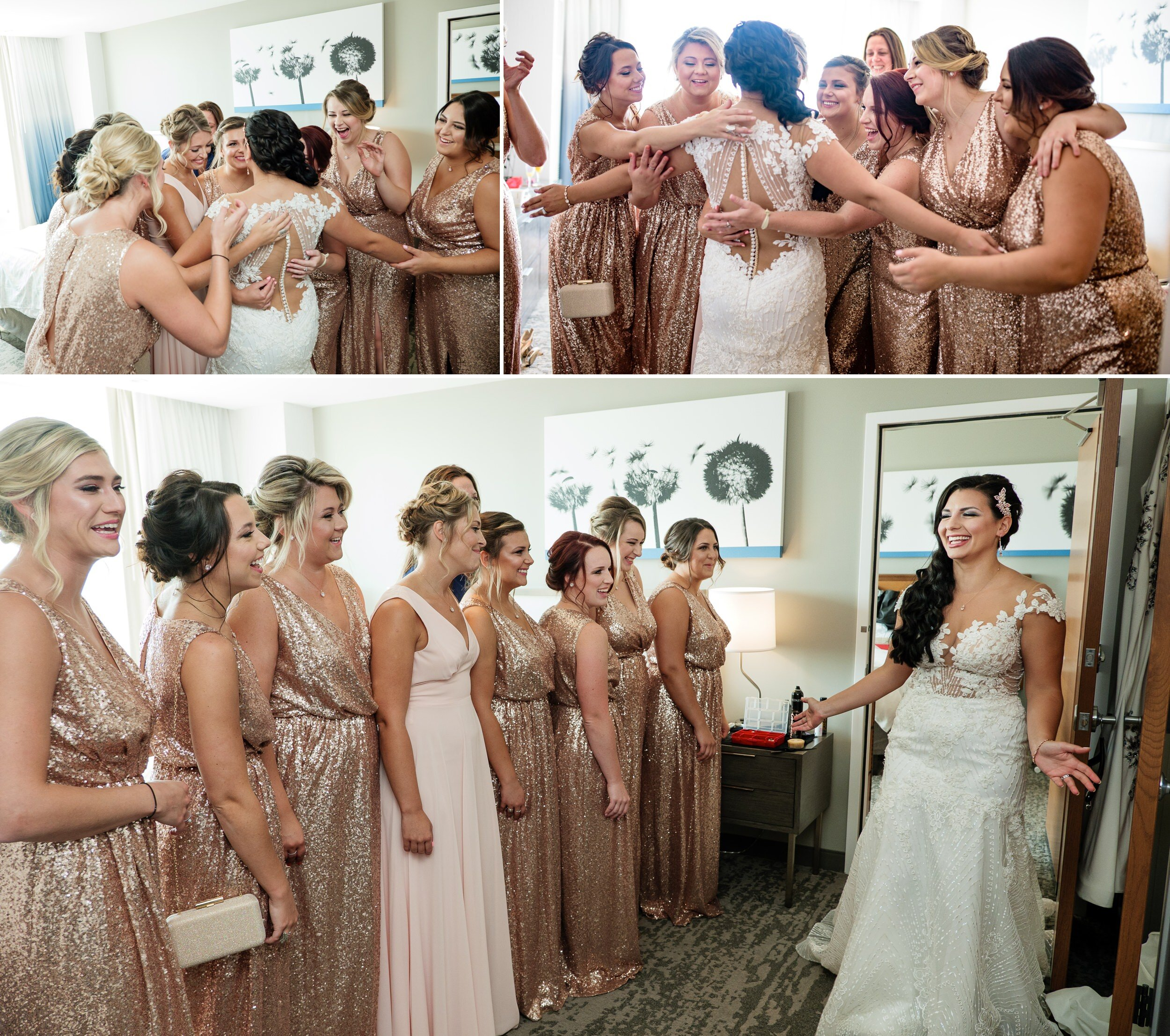 Bridesmaids reveal / first look.