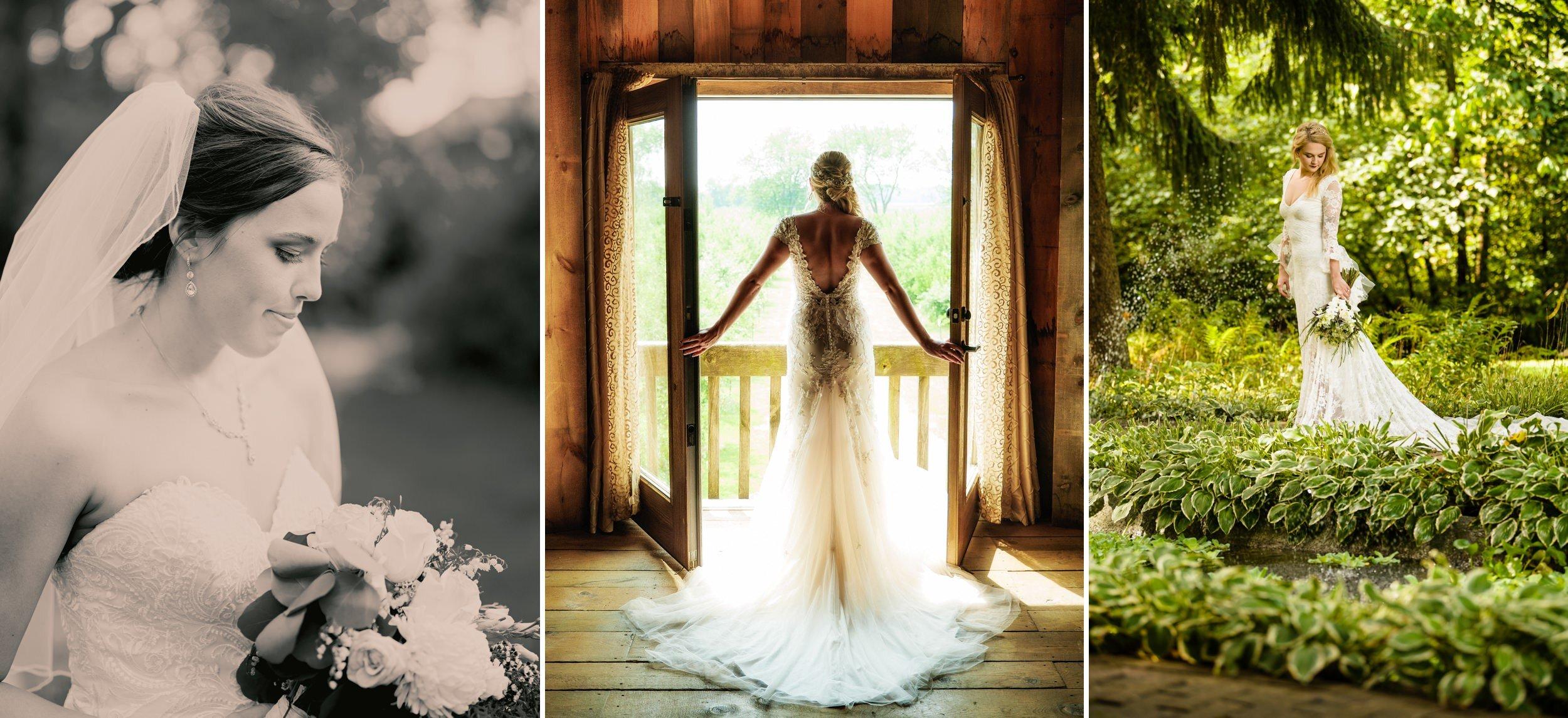 Modern bridal portraits.