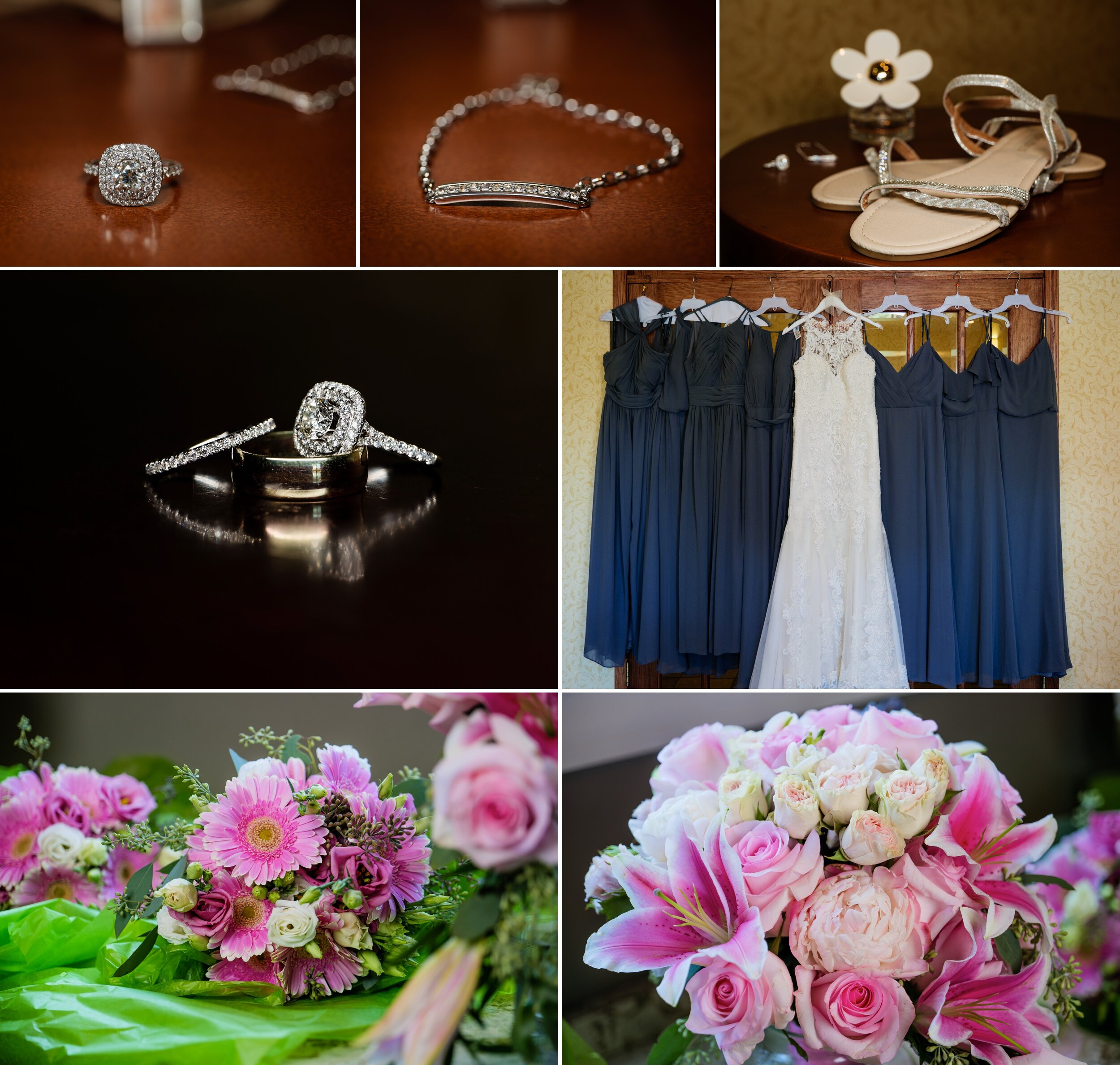 Bridal details for a September wedding at Aberdeen Manor.