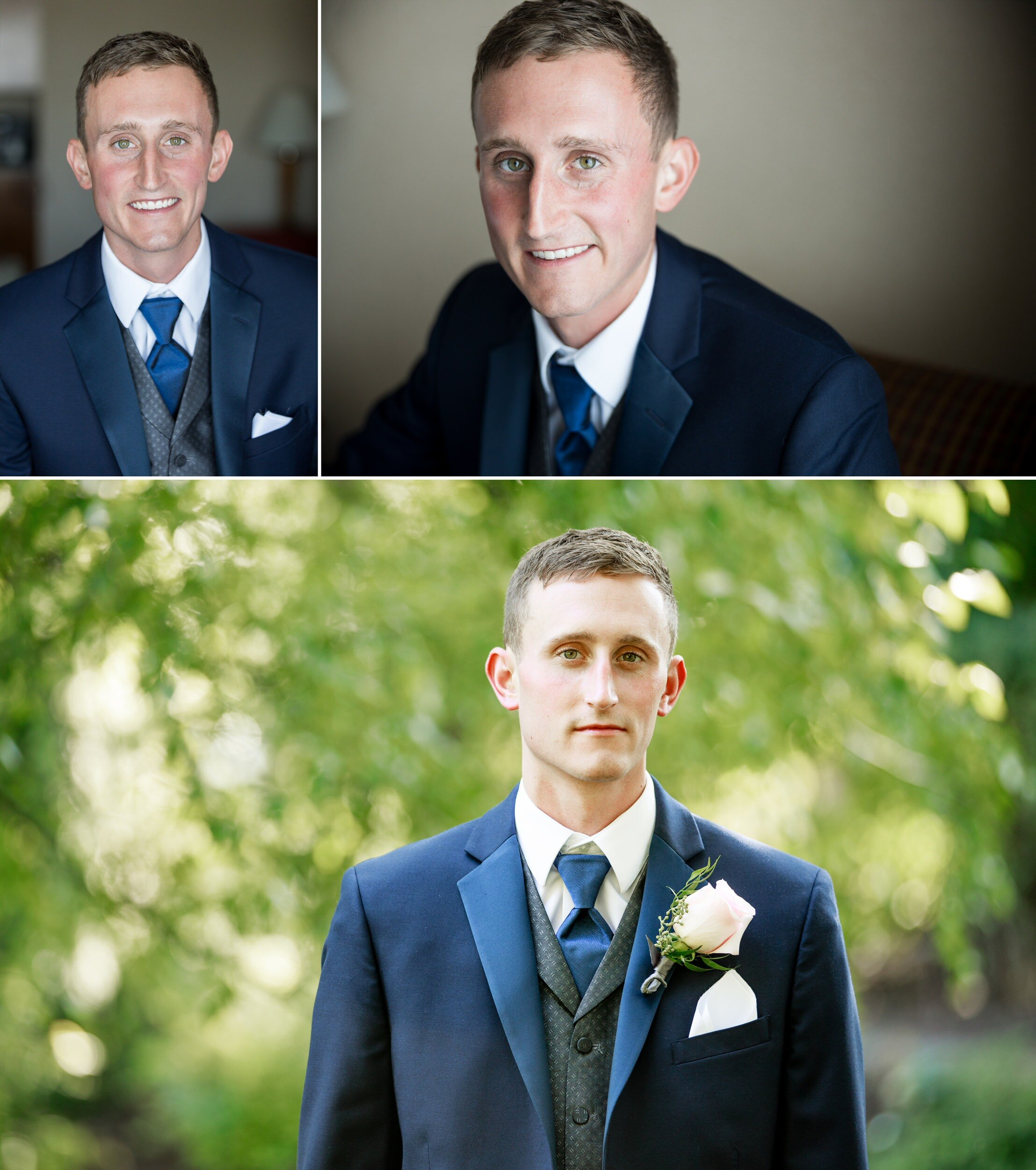 Portraits of the groom at Aberdeen Manor.