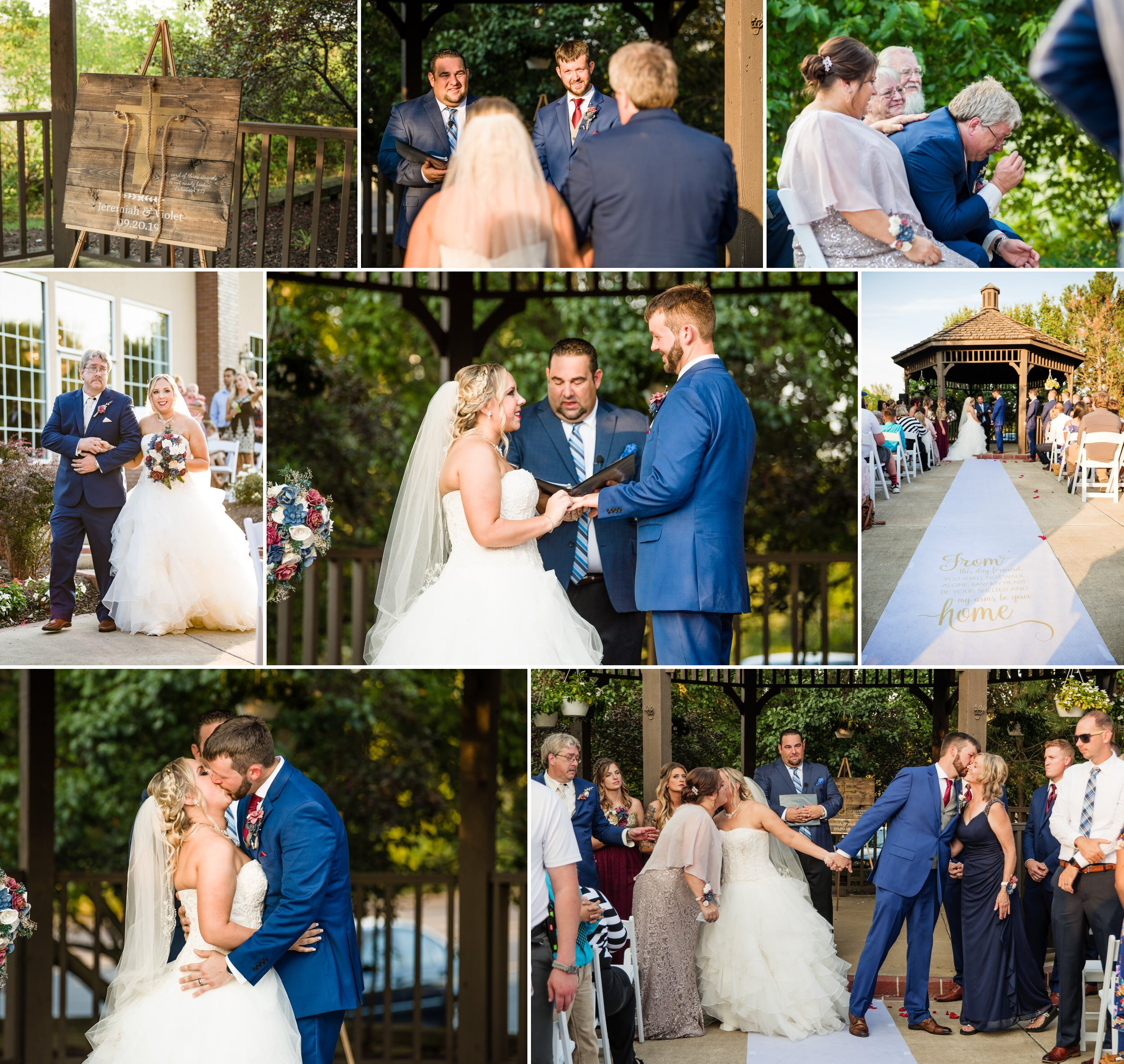 Outdoor September wedding ceremony at Avalon Manor.