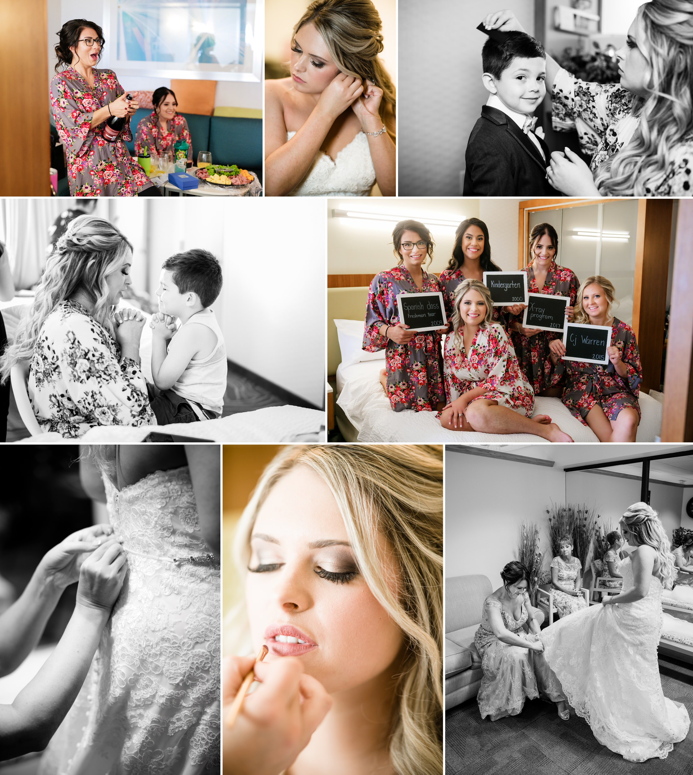 Bridal prep at the Marriott and the Centennial Park bridal suite.