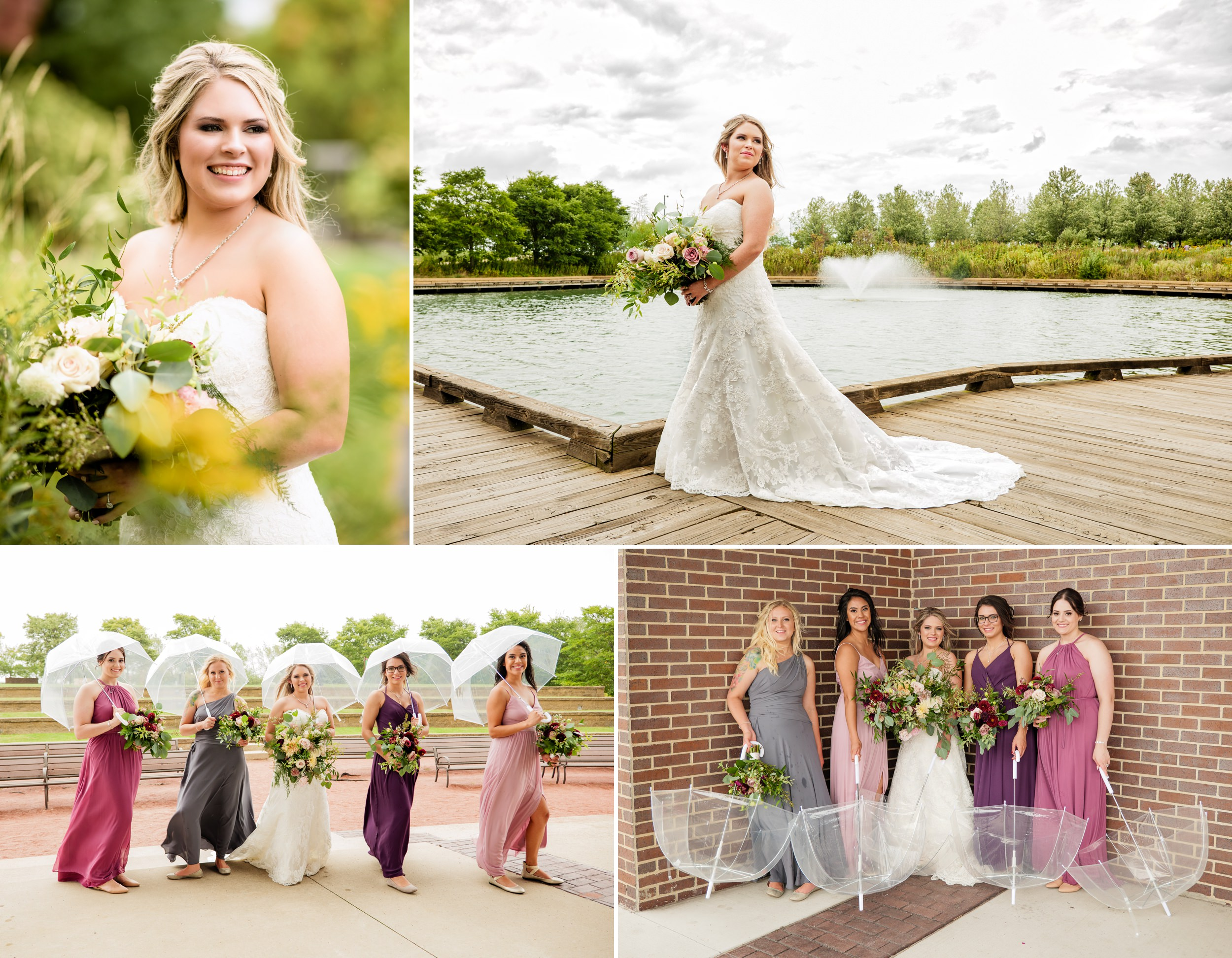 The bride and her bridesmaids at Centennial Park.