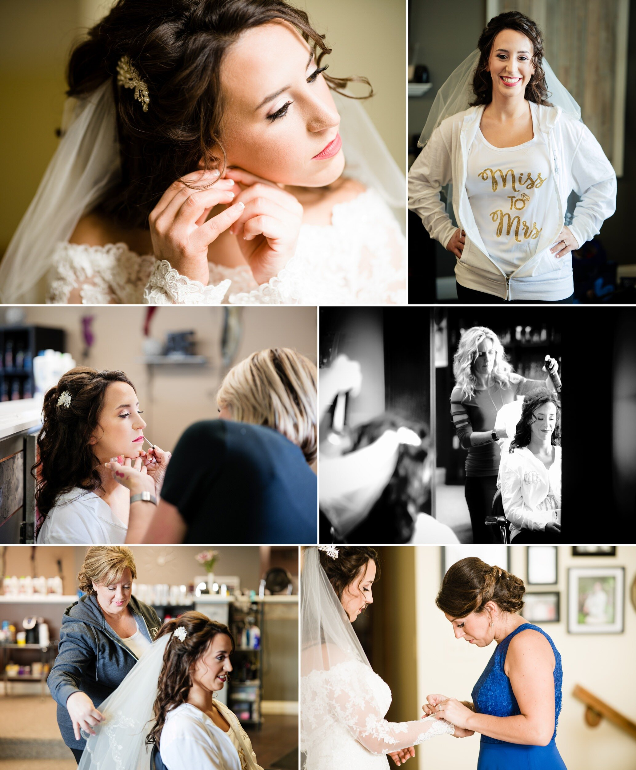 Hair and makeup for the bridal crew.