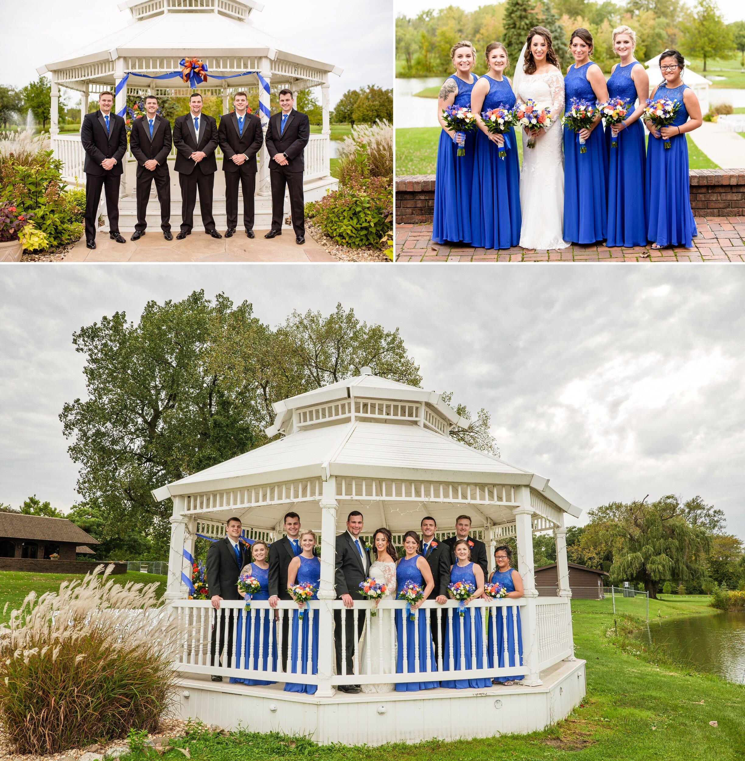 Wedding party group photos at Wicker Park Social Center.