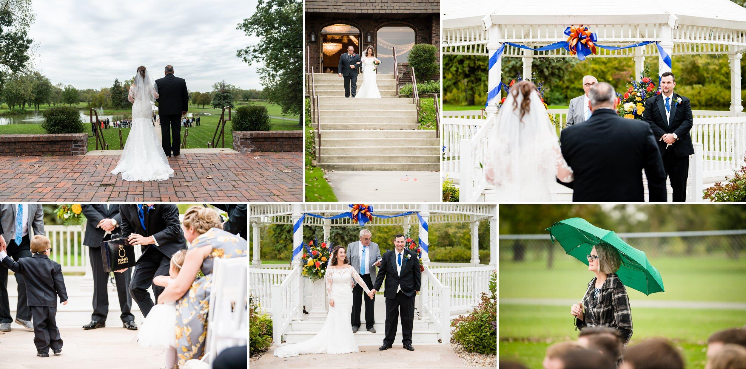 Outdoor Fall wedding at Wicker Park Social Center.
