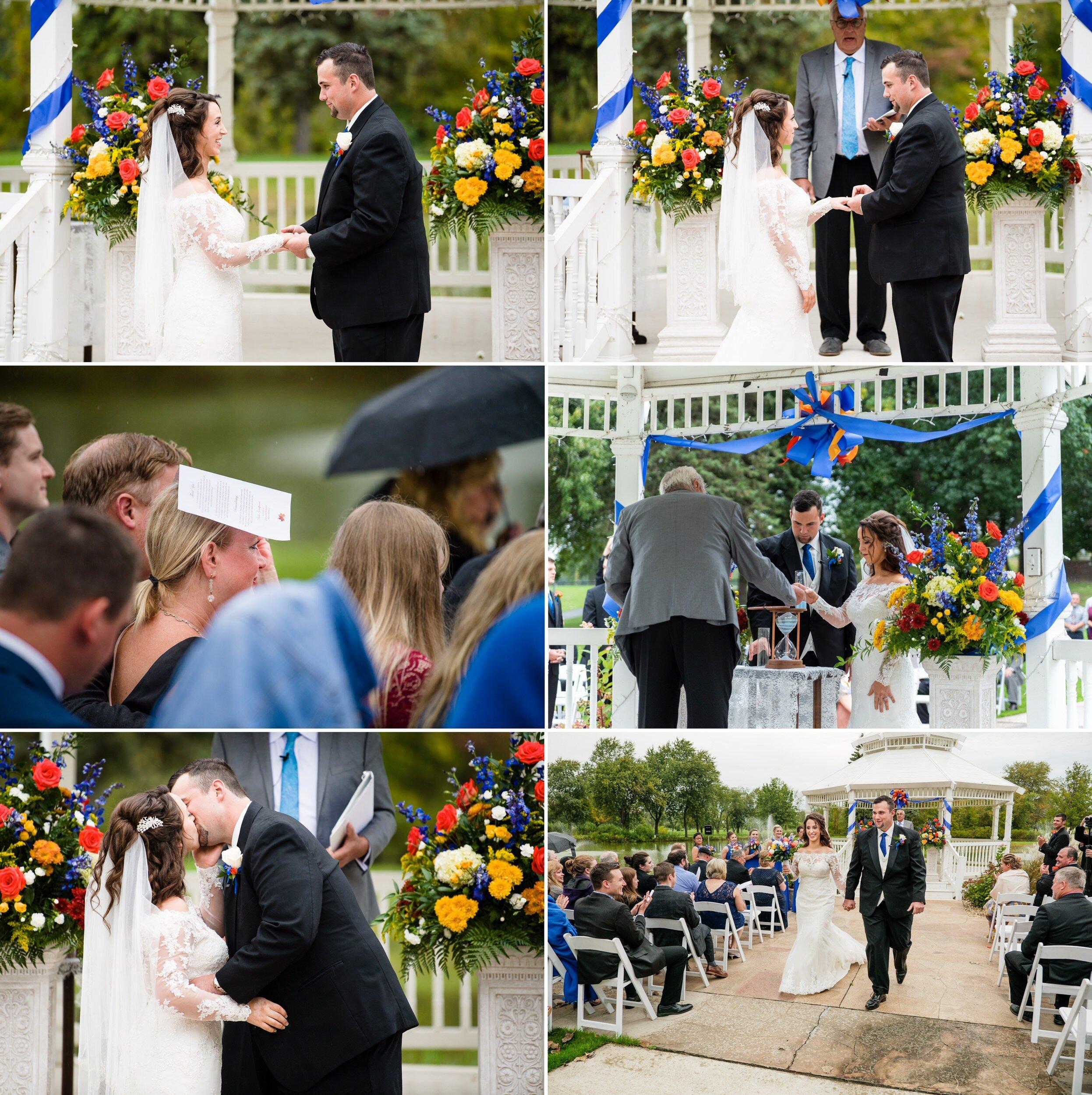 Autumn wedding at the gazebo of Wicker Park Social Center.