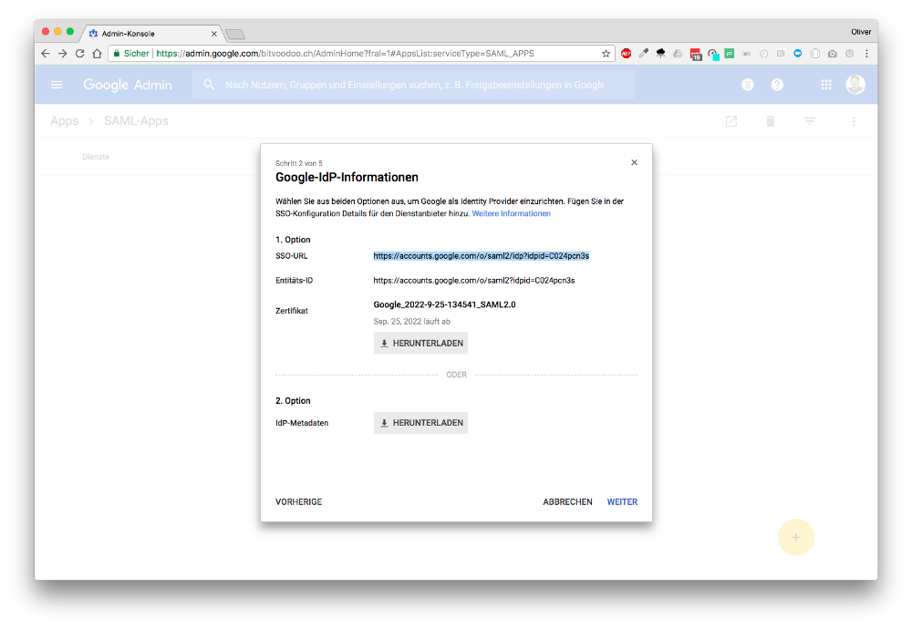 Google-IdP-info