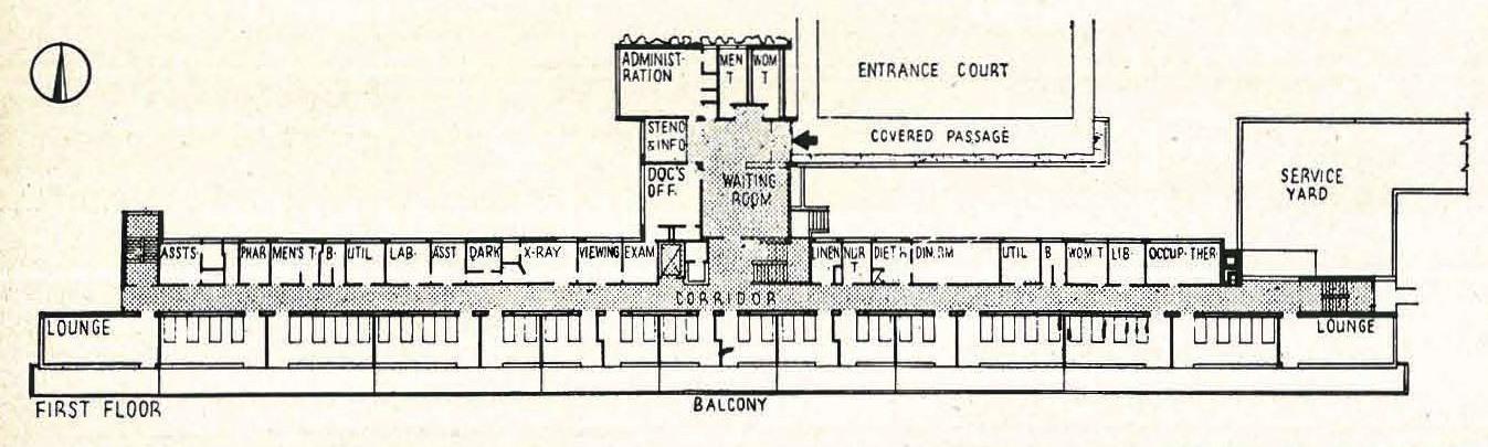 William Ganster and William Pereira  Lake County Tuberculosis Sanatorium  from   Built in USA: 1932-1944  (1944)