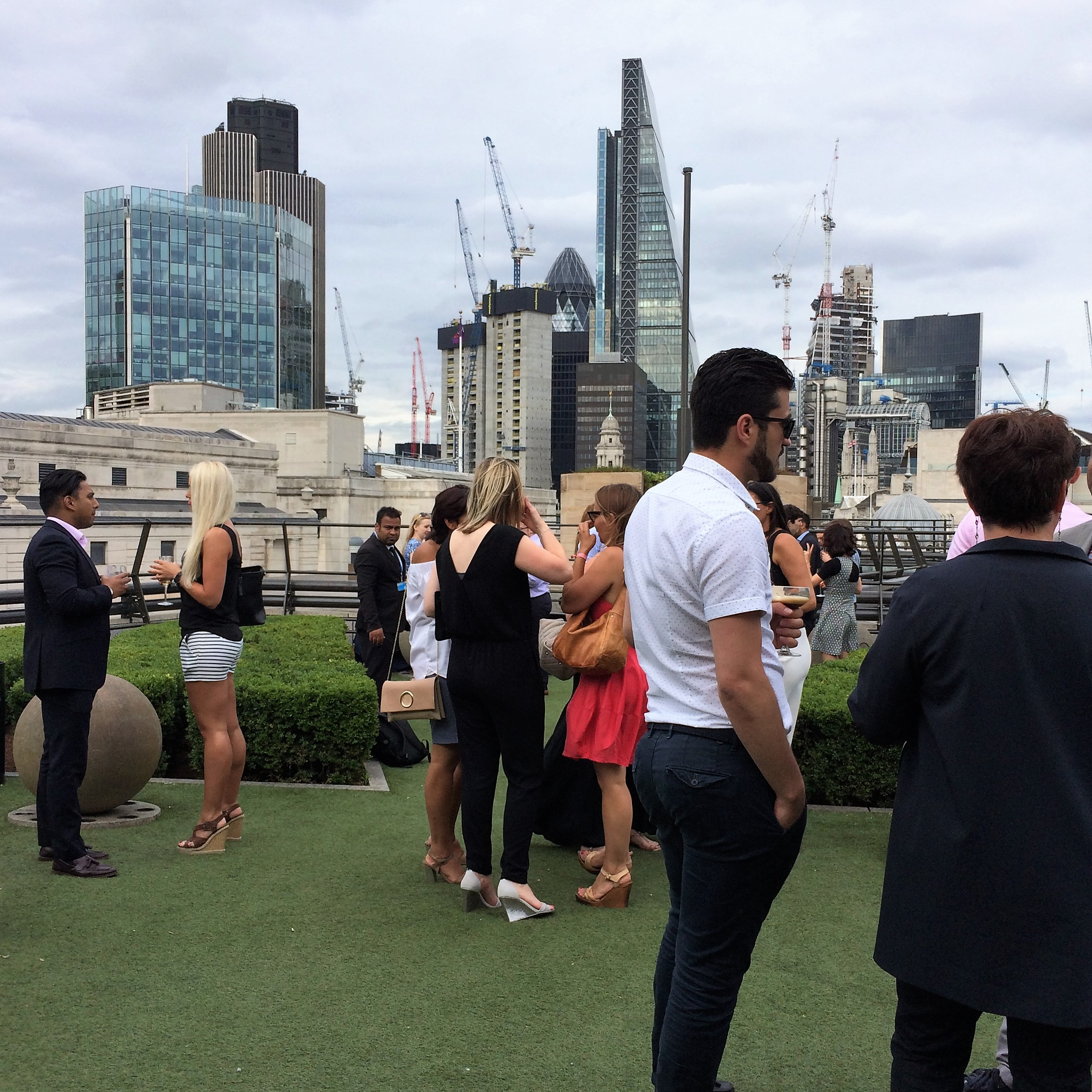 Rooftop terrace at Number One Poultry. Photo: Anthony Denzer.