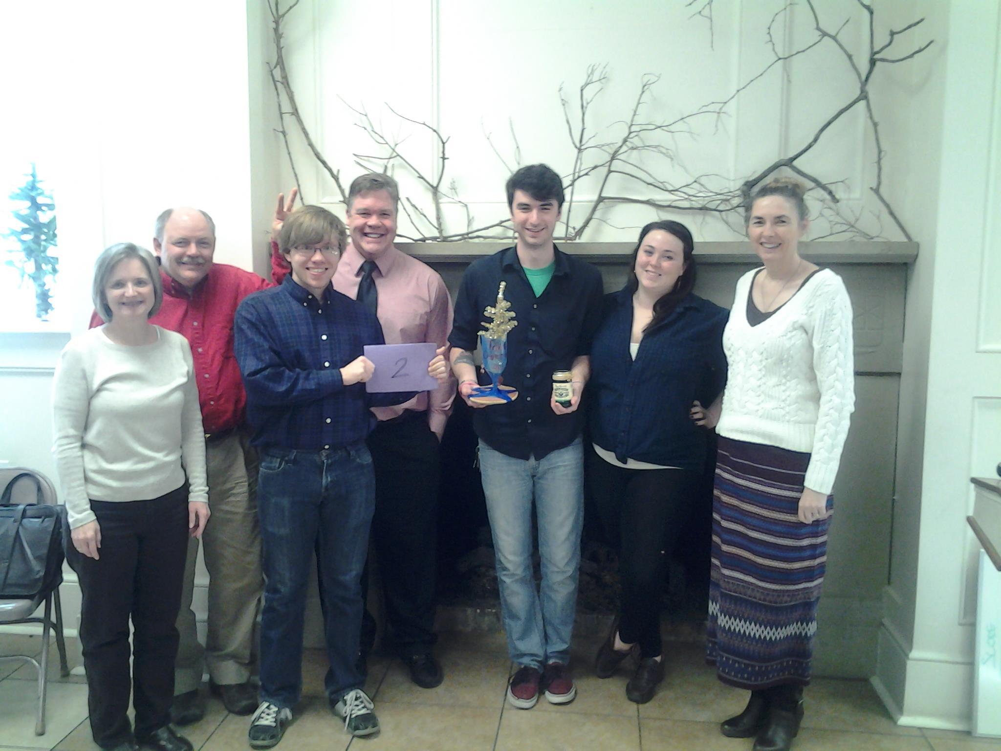 Trivia Winners - March 10, 2013  Beverly Baker, Tim Baker, Noah Baker, Kevin Corlett, Adam Creech, Emma Pridham, and Annette Ellard. Congrats!