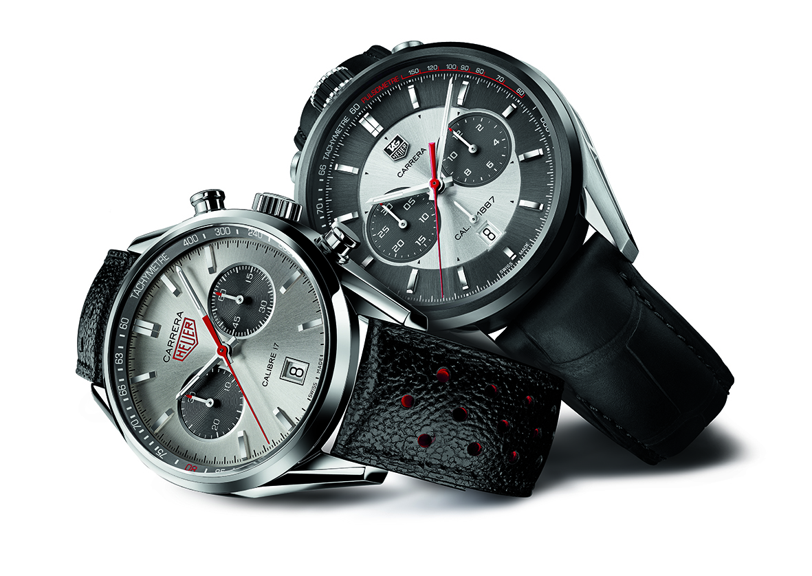 CAR2C11 and CV2119 TAG HEUER CARRERA JACK HEUER EDITIONS 2012 AND 2013 MOOD PACKSHOT ON WHITE BACKGROUND.jpg