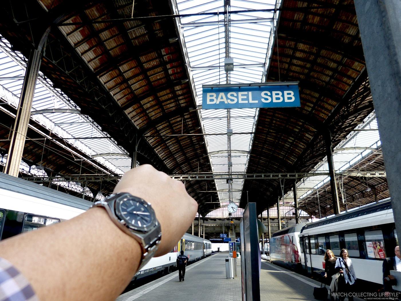 We have arrived at Basel's train station.