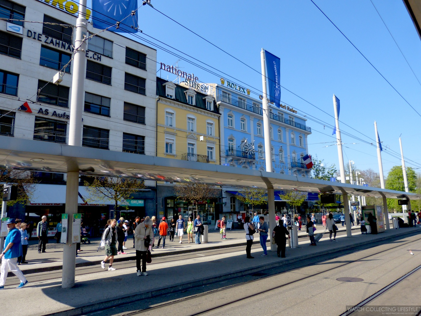 Time to get on the tram to the Messeplatz/Exhibition Square. We are 10 minutes away.
