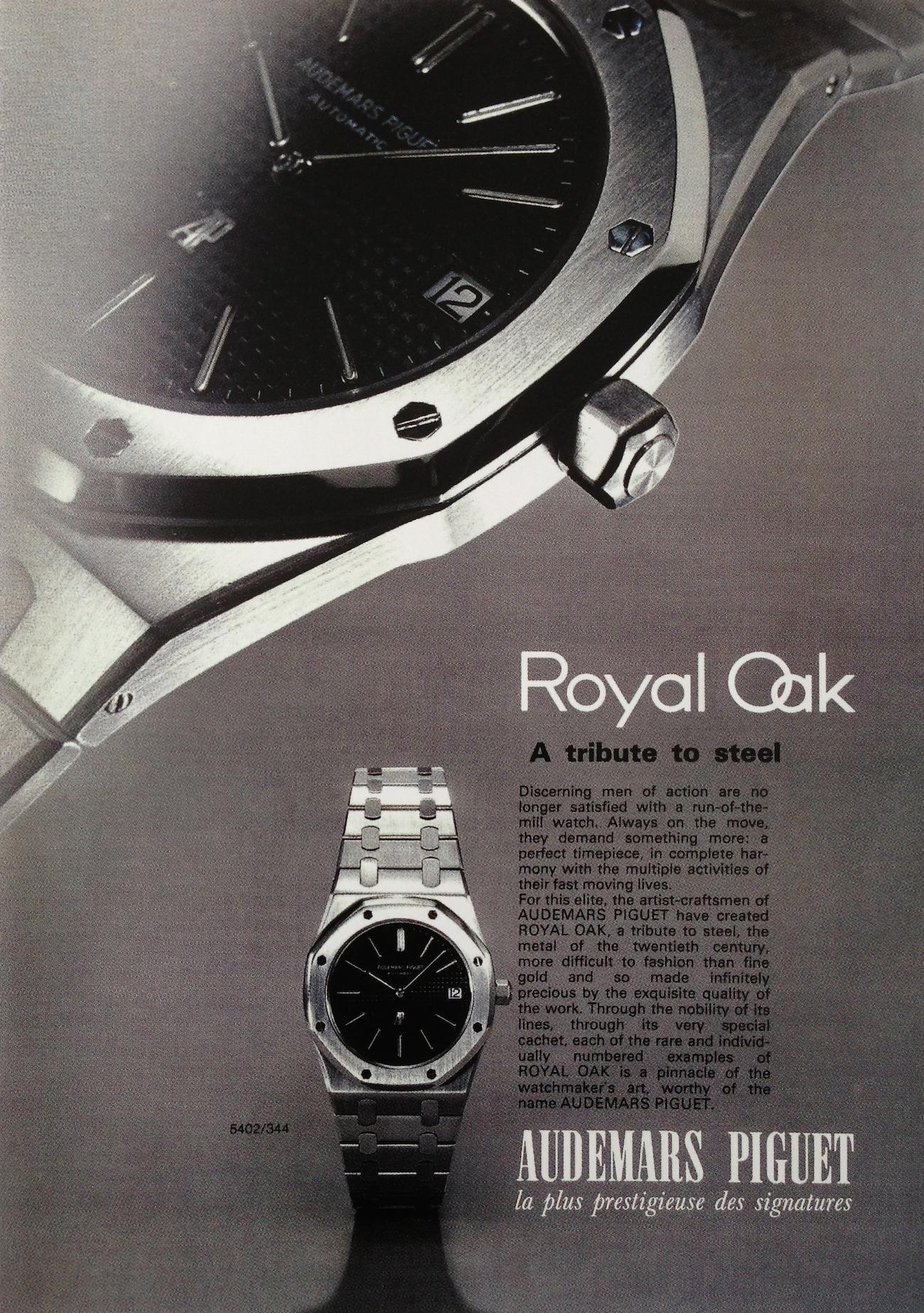 First Audemars Piguet Royal Oak Advertisement.