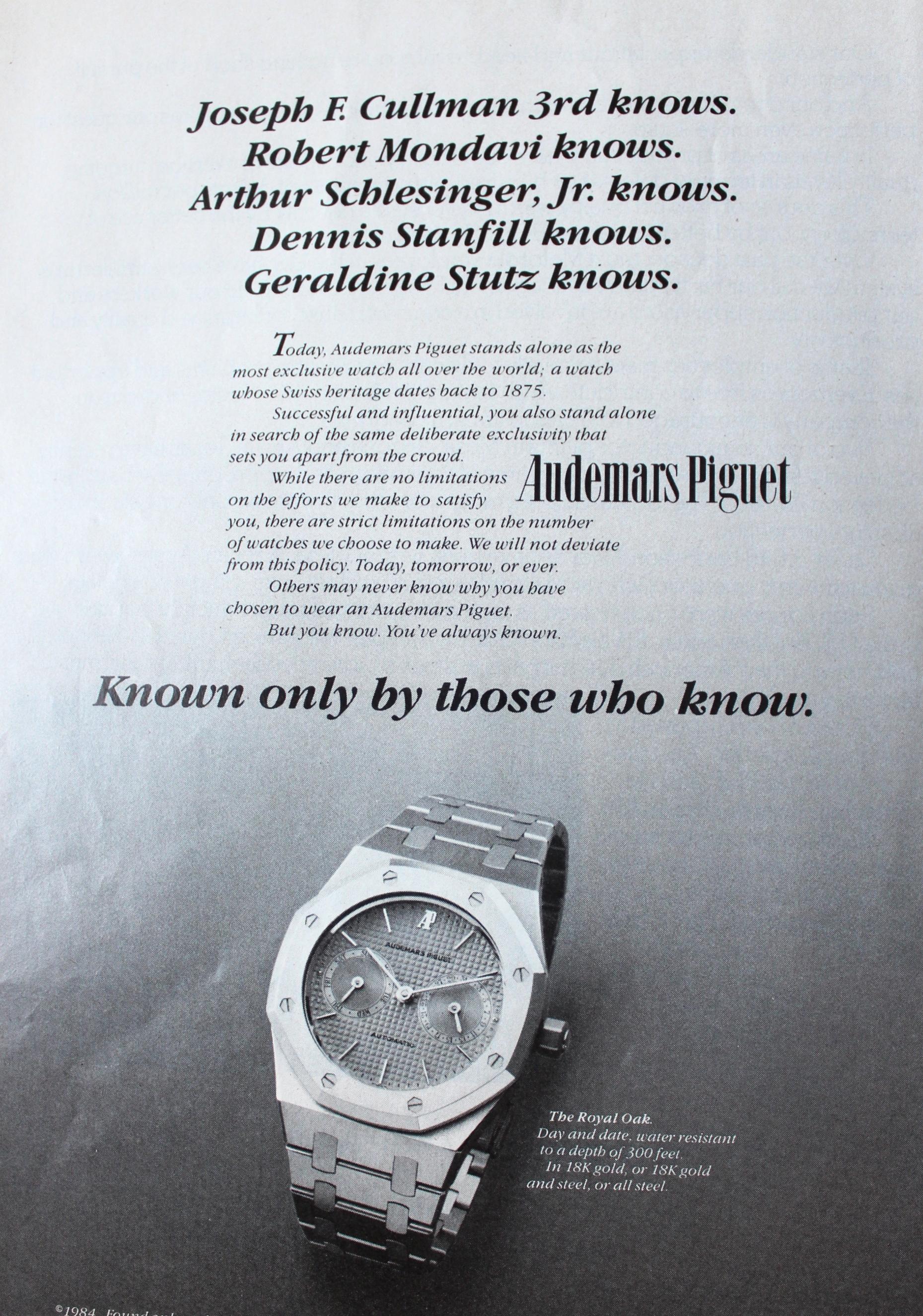 Royal Oak Advertisement circa 1984.