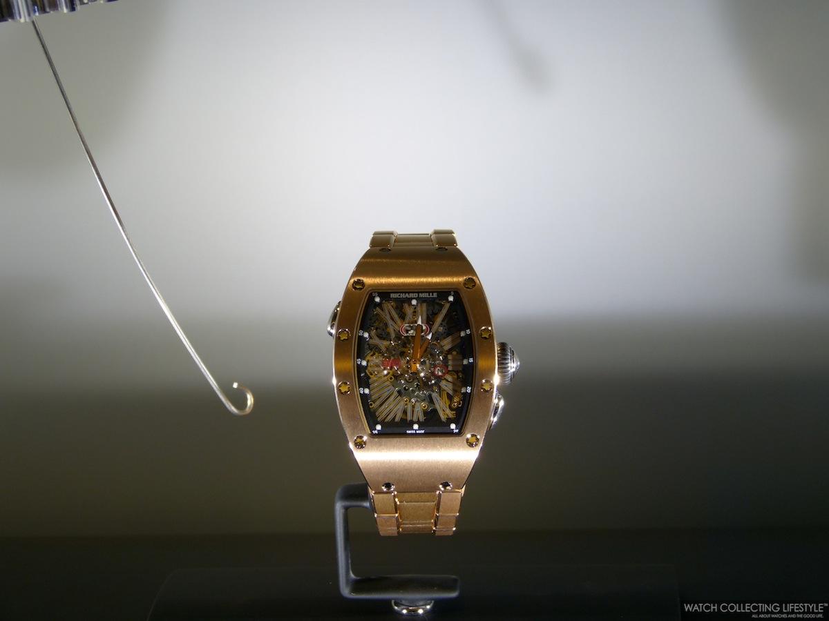 New Richard Mille integrated bracelet in 5N Red Gold.