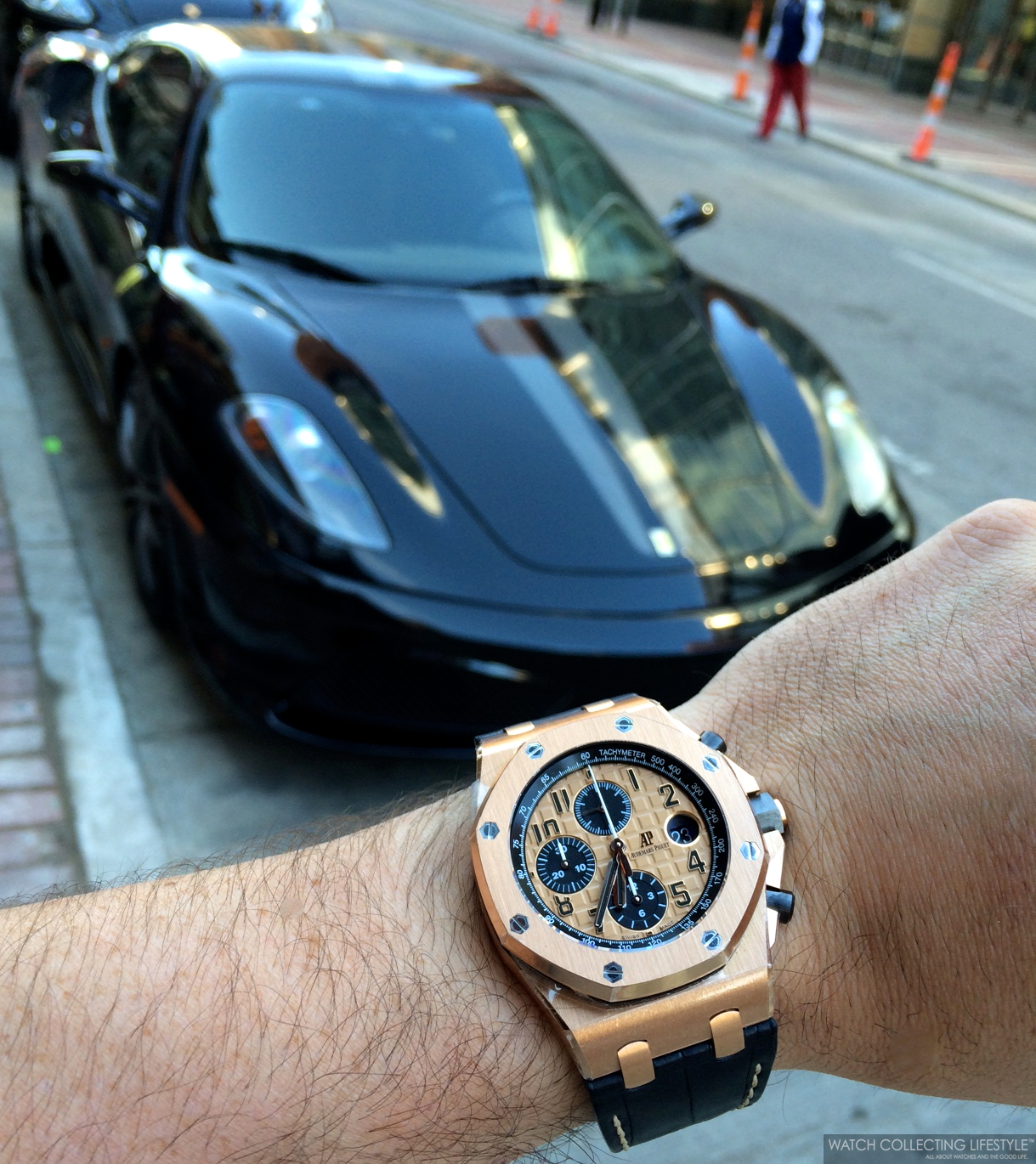 Experience Ferrari F430 Scuderia And The Audemars Piguet Royal Oak Offshore Chronograph Ref 26470or Rose Gold Absolute Perfect Pairing Watch Collecting Lifestyle