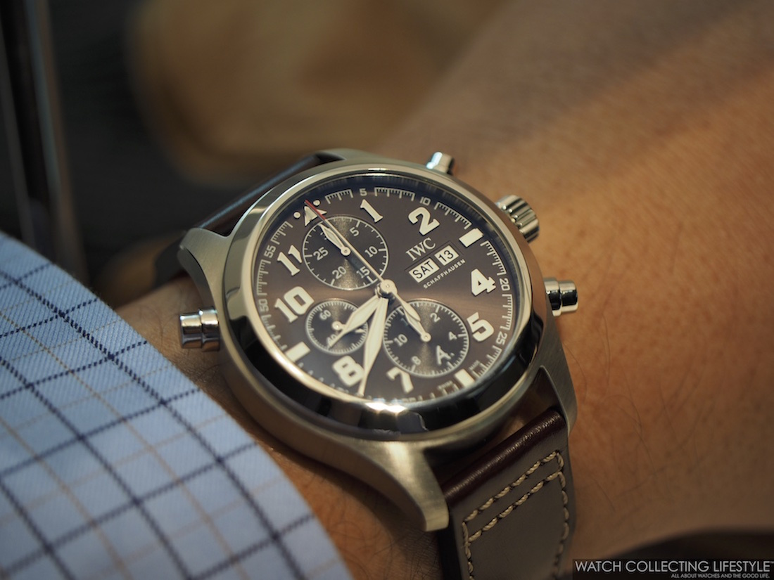 low priced 2d140 8af96 SIHH 2016: Presenting the New IWC Pilot's Watch Double ...