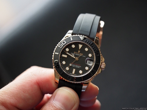 Insider: Rolex Yacht-Master 37 Everose Gold ref. 268655. Hands-on with the  Watch of the Open Seas and Explanation on How to Size the Oysterflex. —  WATCH COLLECTING LIFESTYLE