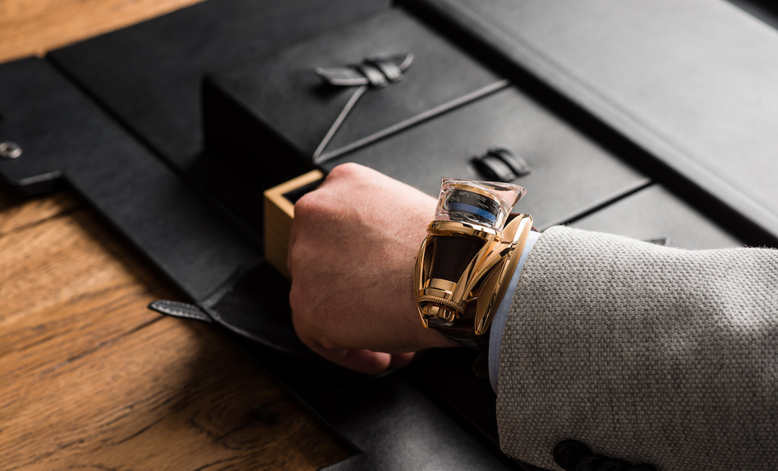 The Write Time Pen Watch on Wrist