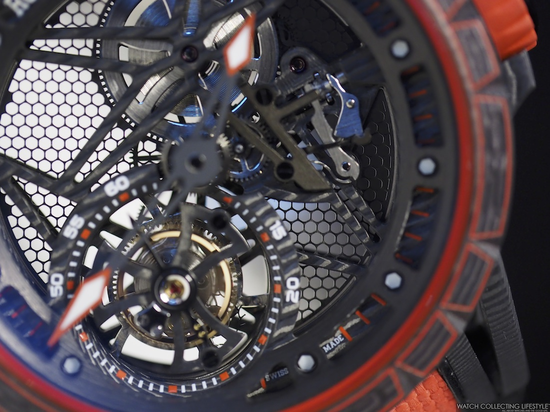 Roger Dubuis Excalibur Spider Carbon Skeleton Flying Tourbillon Dial